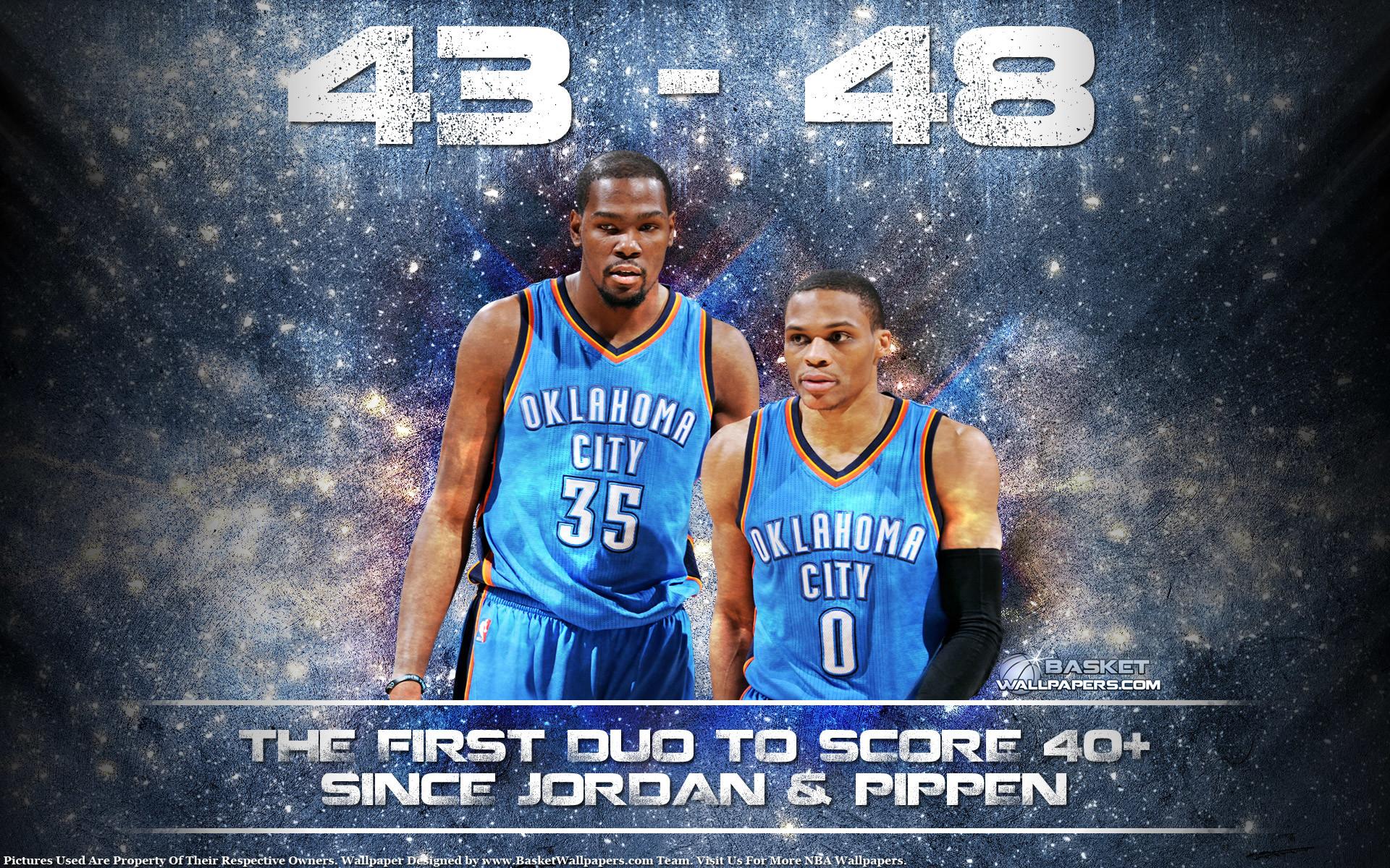 Durant Westbrook 40-40 Game 2015 Wallpaper