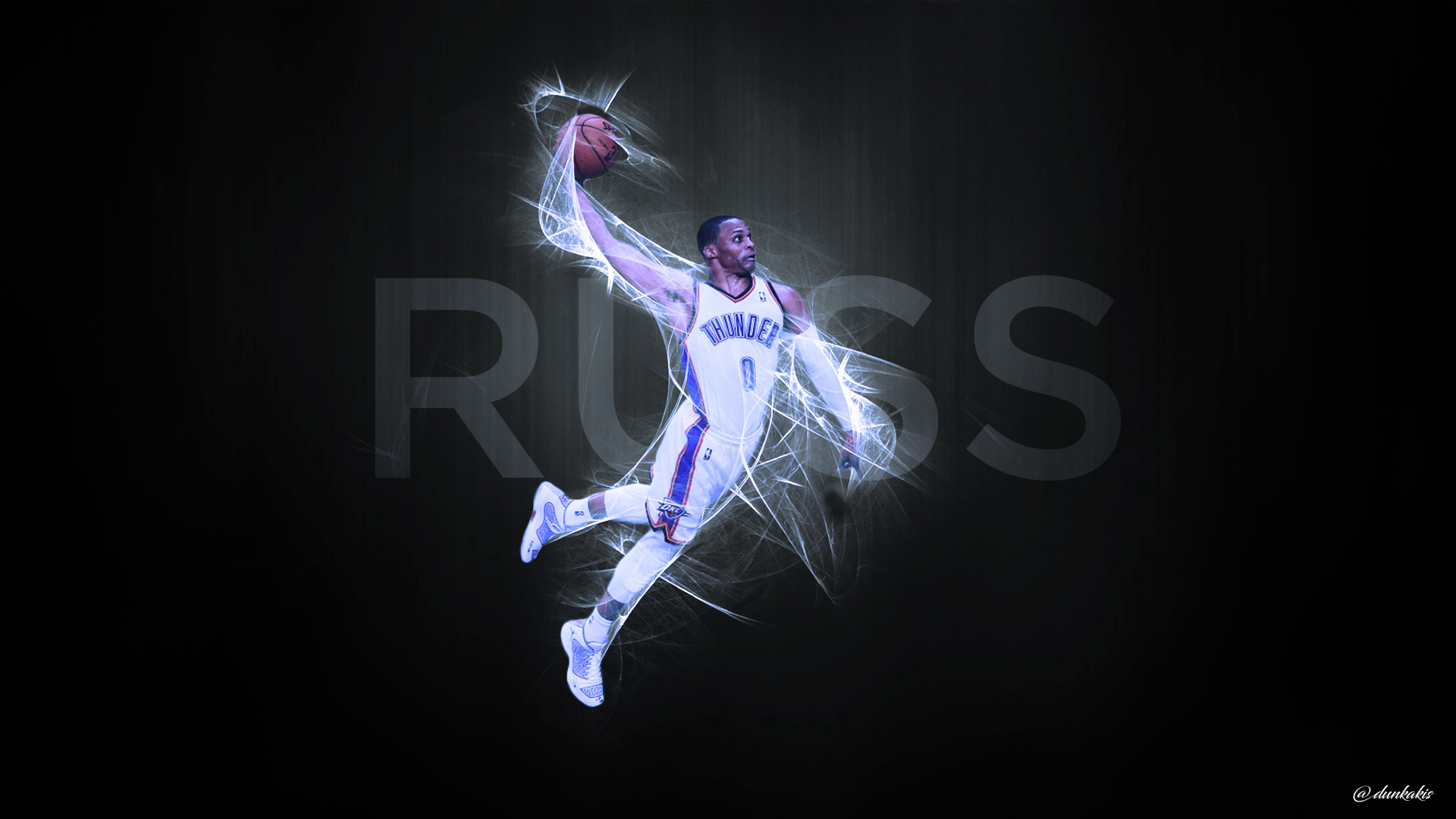 … NBA – Russell Westbrook – Wallpaper by dunkakis
