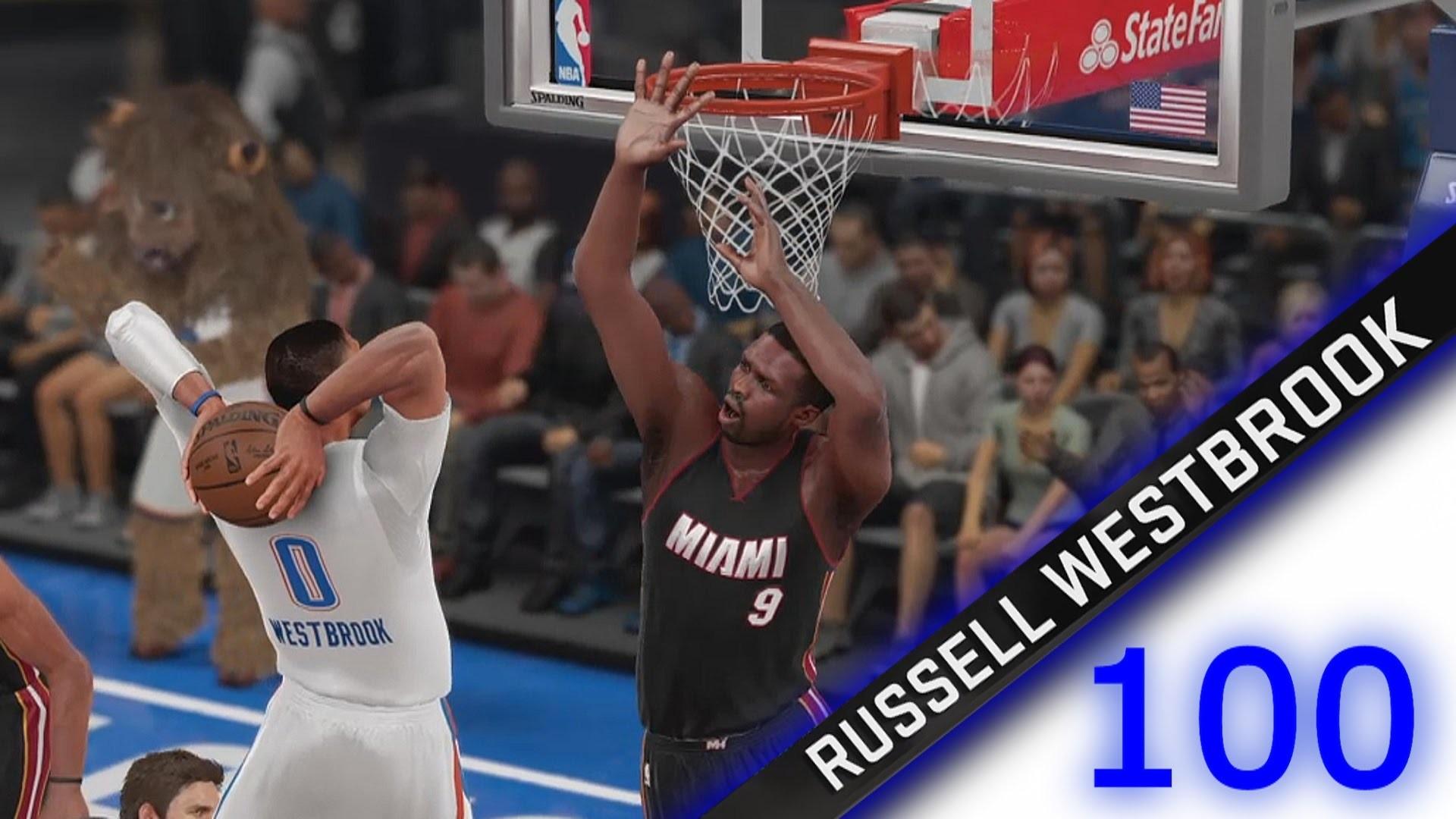 NBA 2K16 Diamond Russell Westbrook 100 Point Challenge | NBA 2K16 Russell  Westbrook Dunk Challenge – YouTube