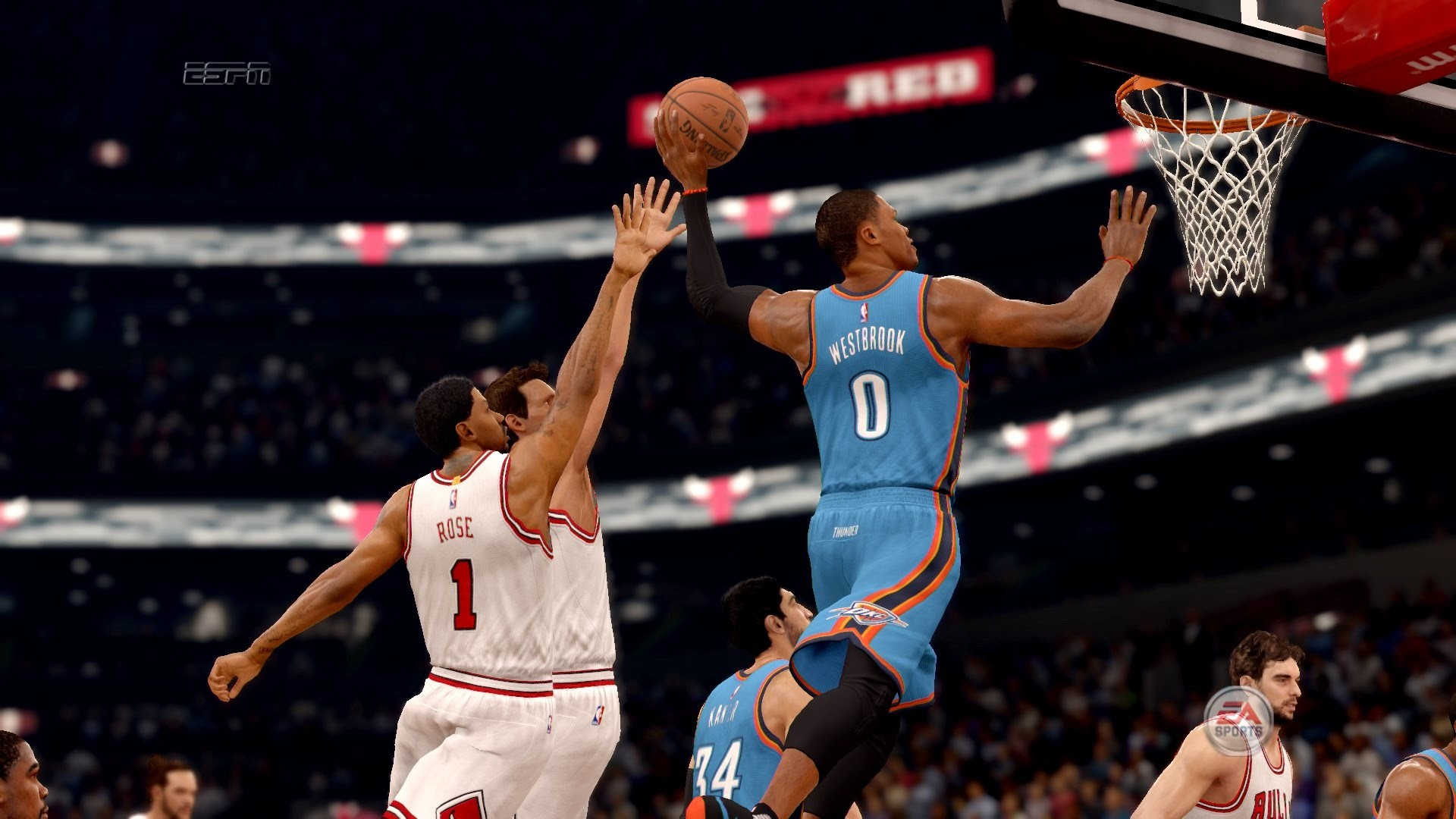 NBA LIVE 16 – Russel Westbrook Sick 1 Handed Dunk [1080p 60fps] – YouTube