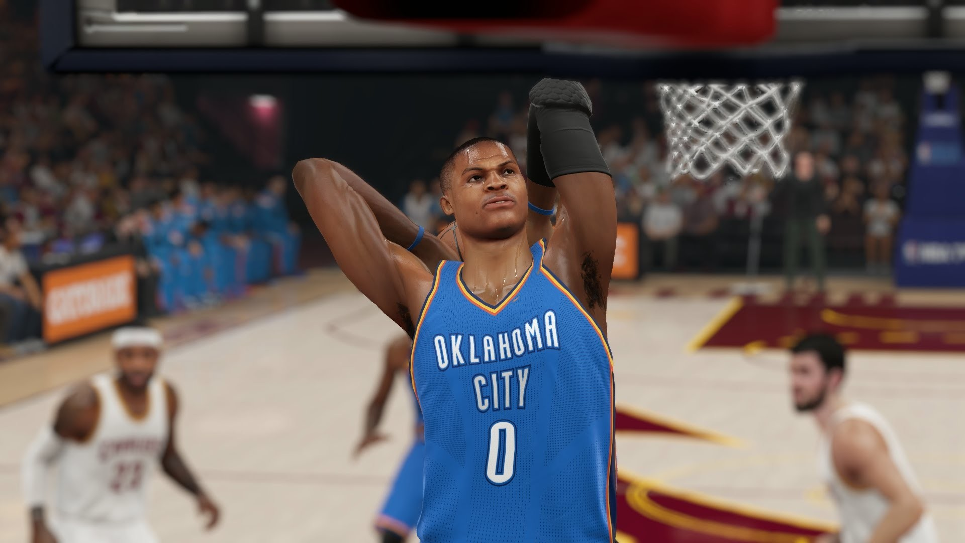 Russell Westbrook Crossover & CRAZY DUNK! [NBA 2K15]