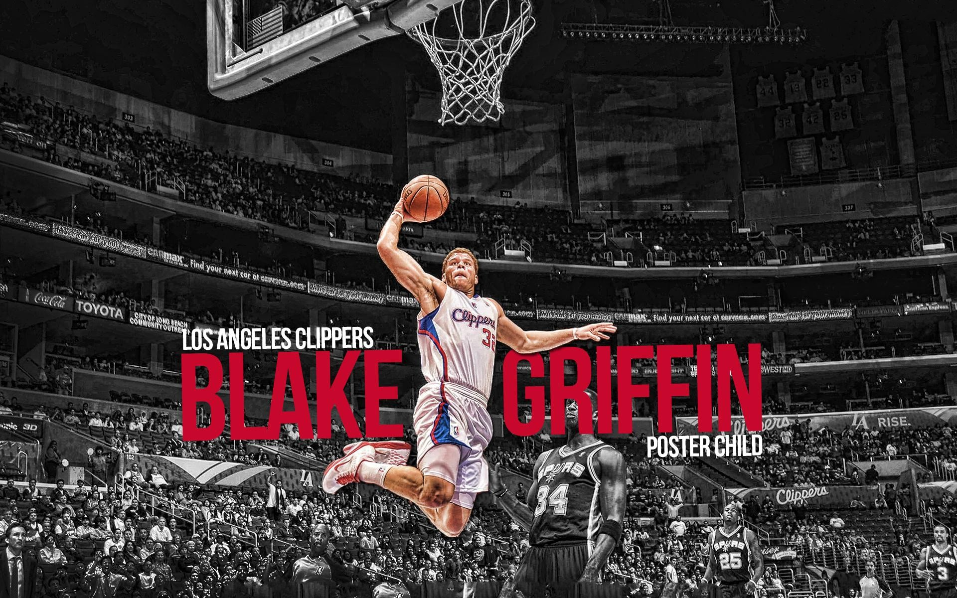 Blake Griffin Dunk Wallpaper HD.