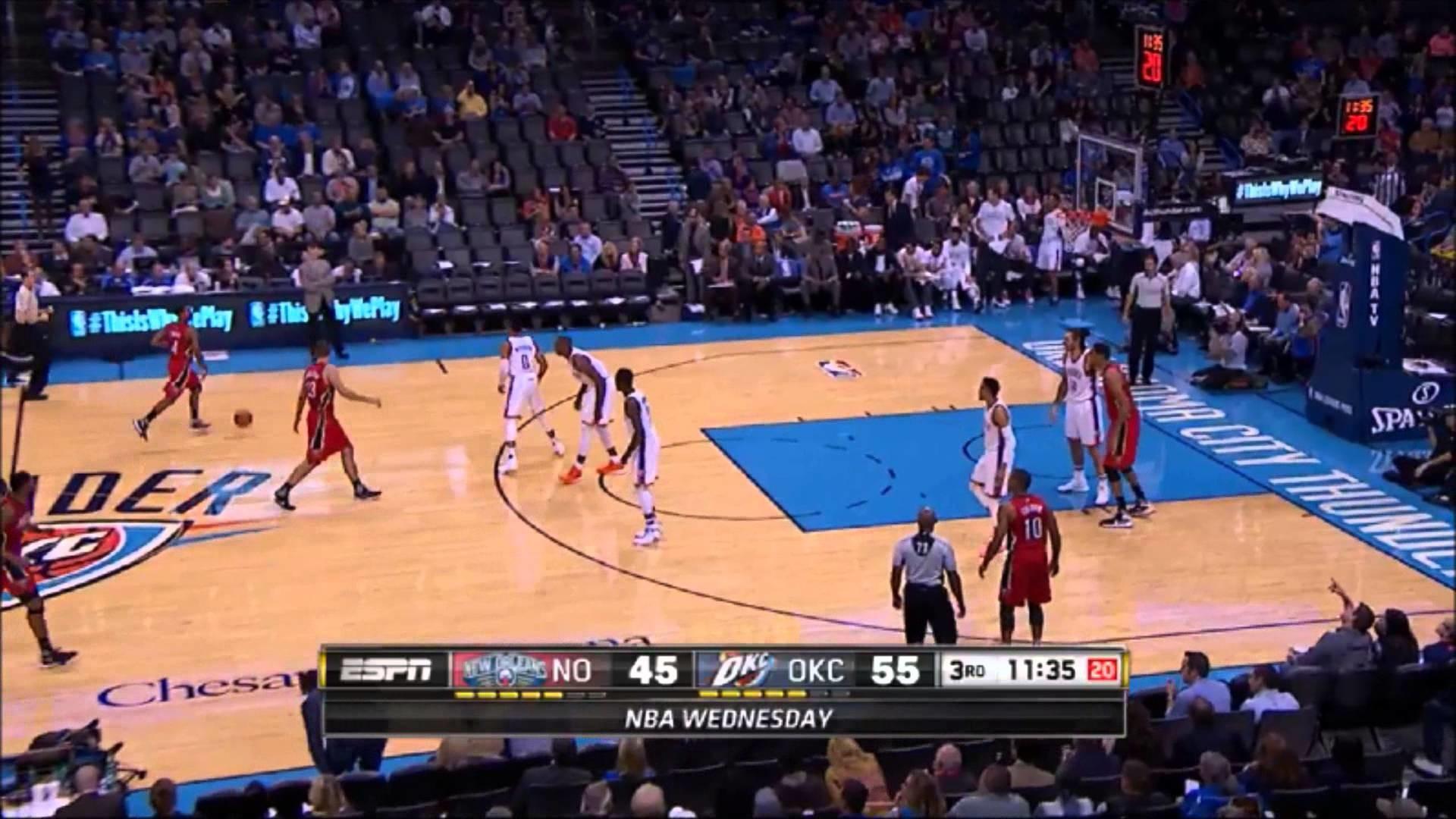 Russell Westbrook Dunk vs Pelicans 11 18 2015