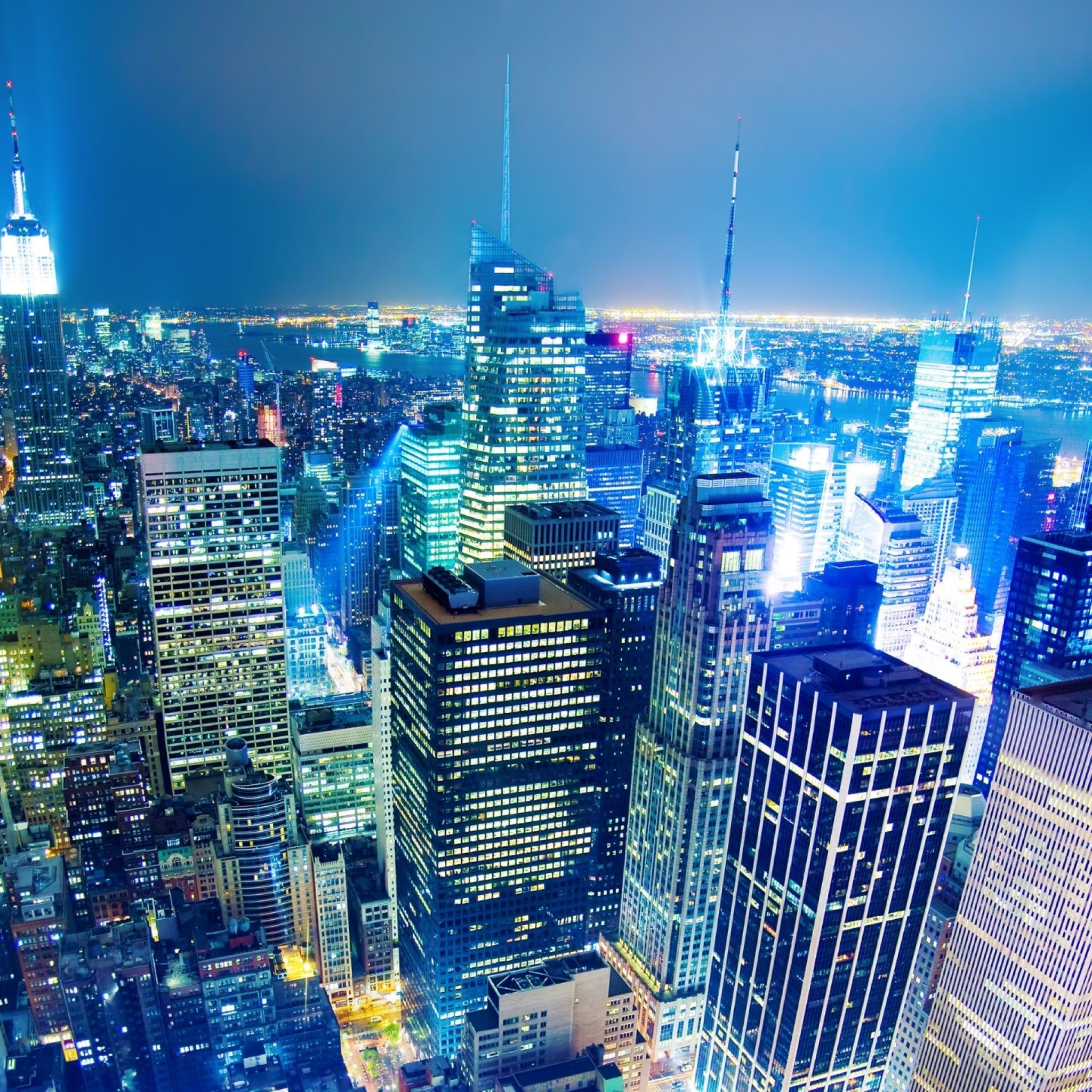 Top of the Rockefeller Center New York iPad 3,4 & Air Wallpaper .