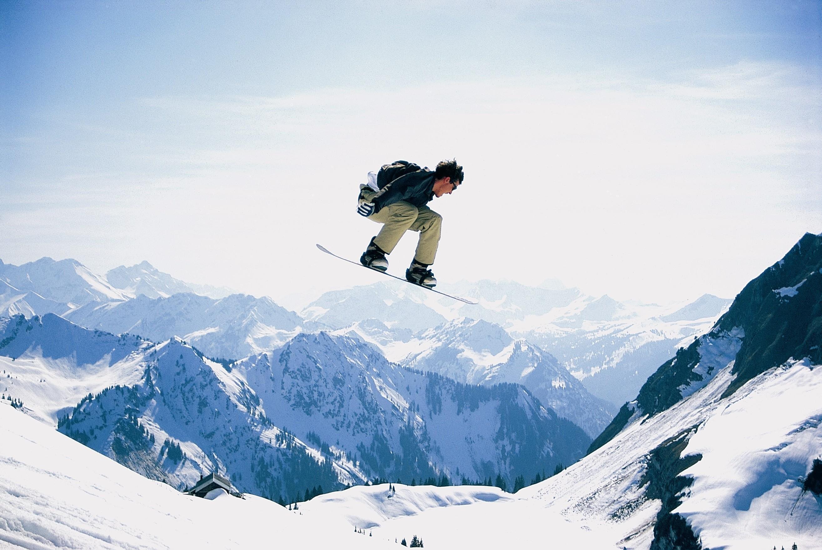 snowboard, snow, snowboarder, jump, extreme, mountais