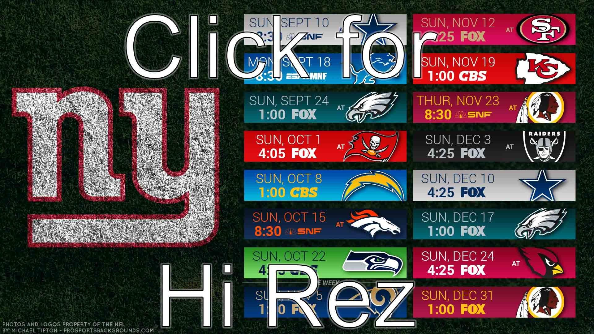 New York Giants 2017 schedule turf football logo wallpaper free pc desktop  computer …