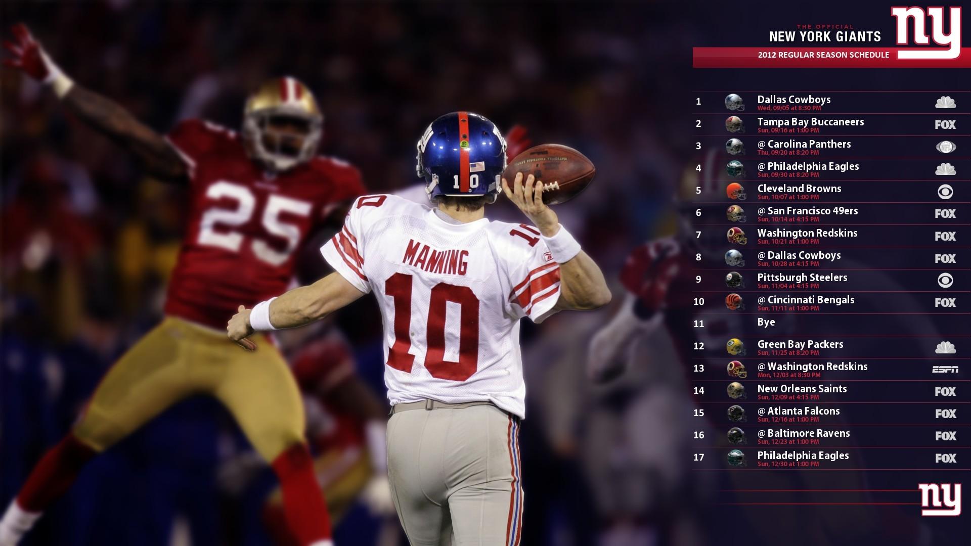2012 Giants Schedule Wallpaper