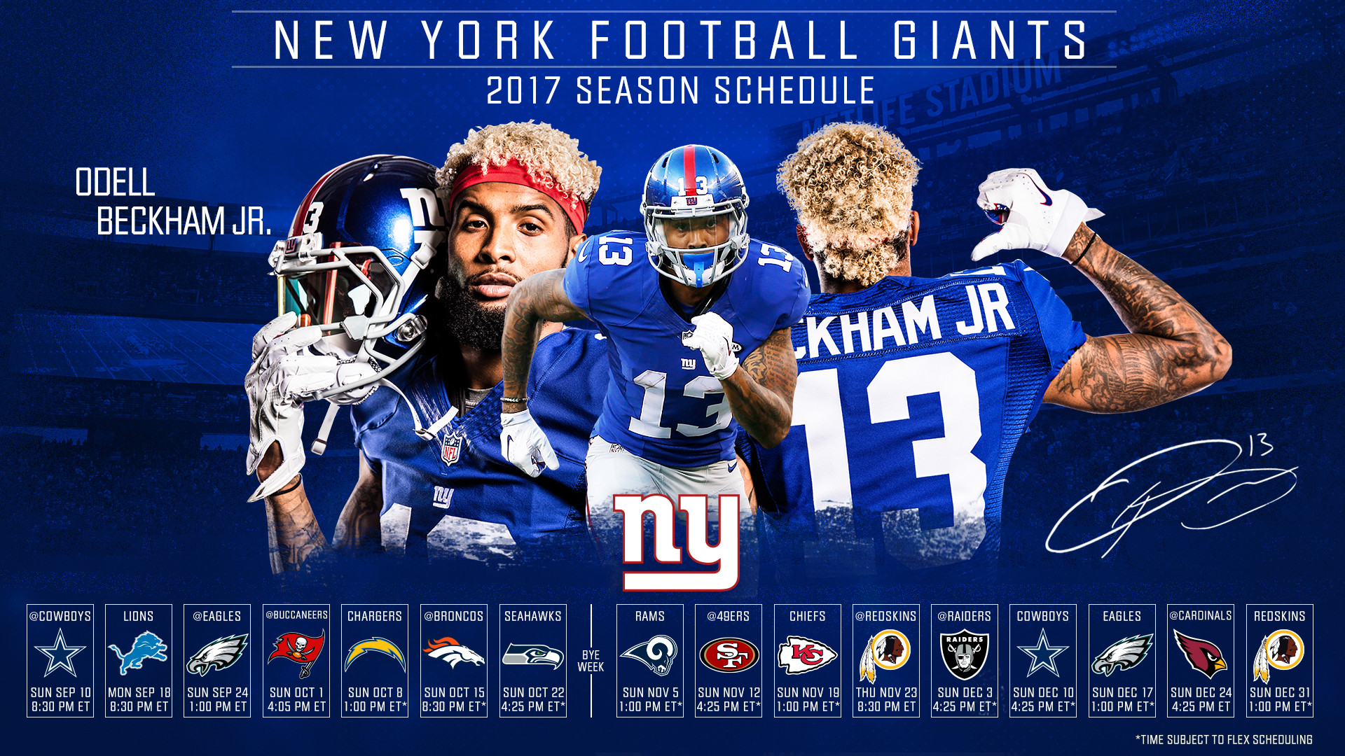 Download the Giants 2017 Schedule Wallpaper