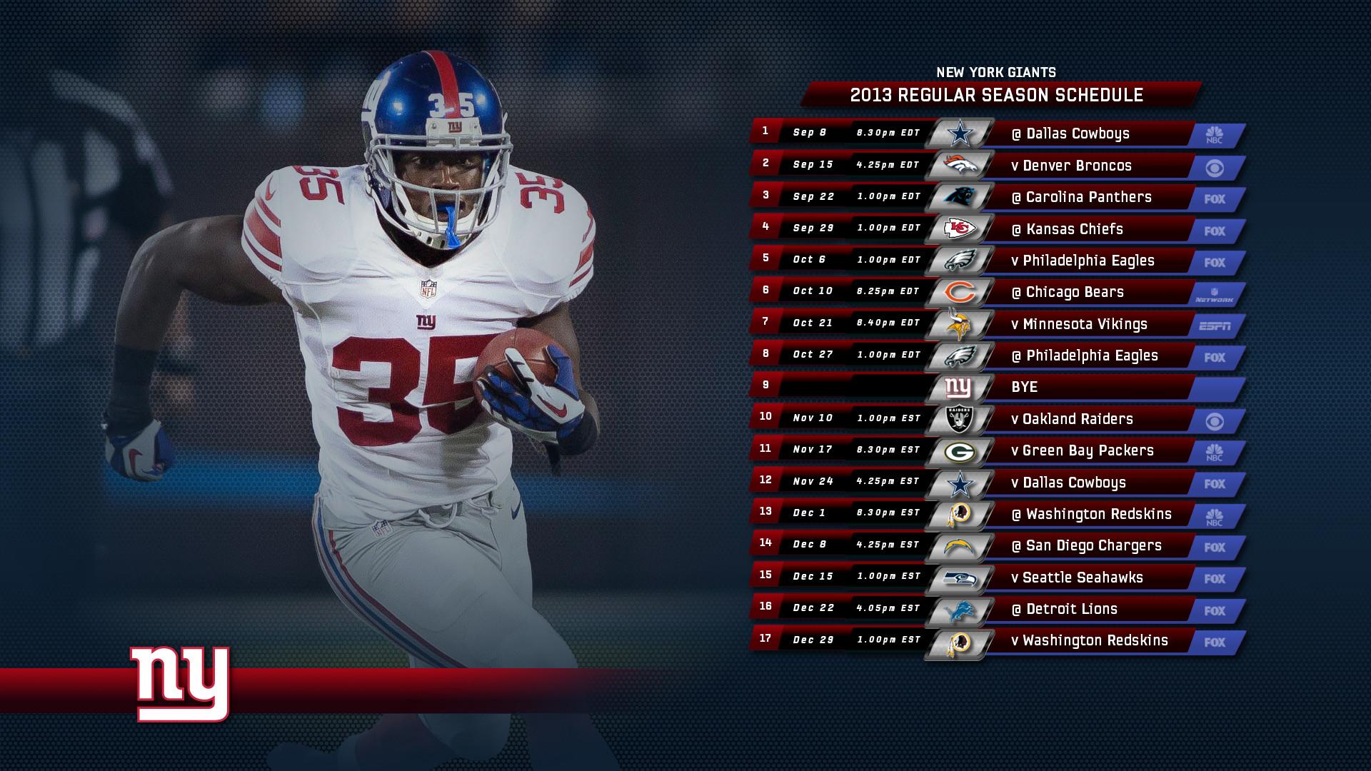 2013 Giants Schedule Wallpapers