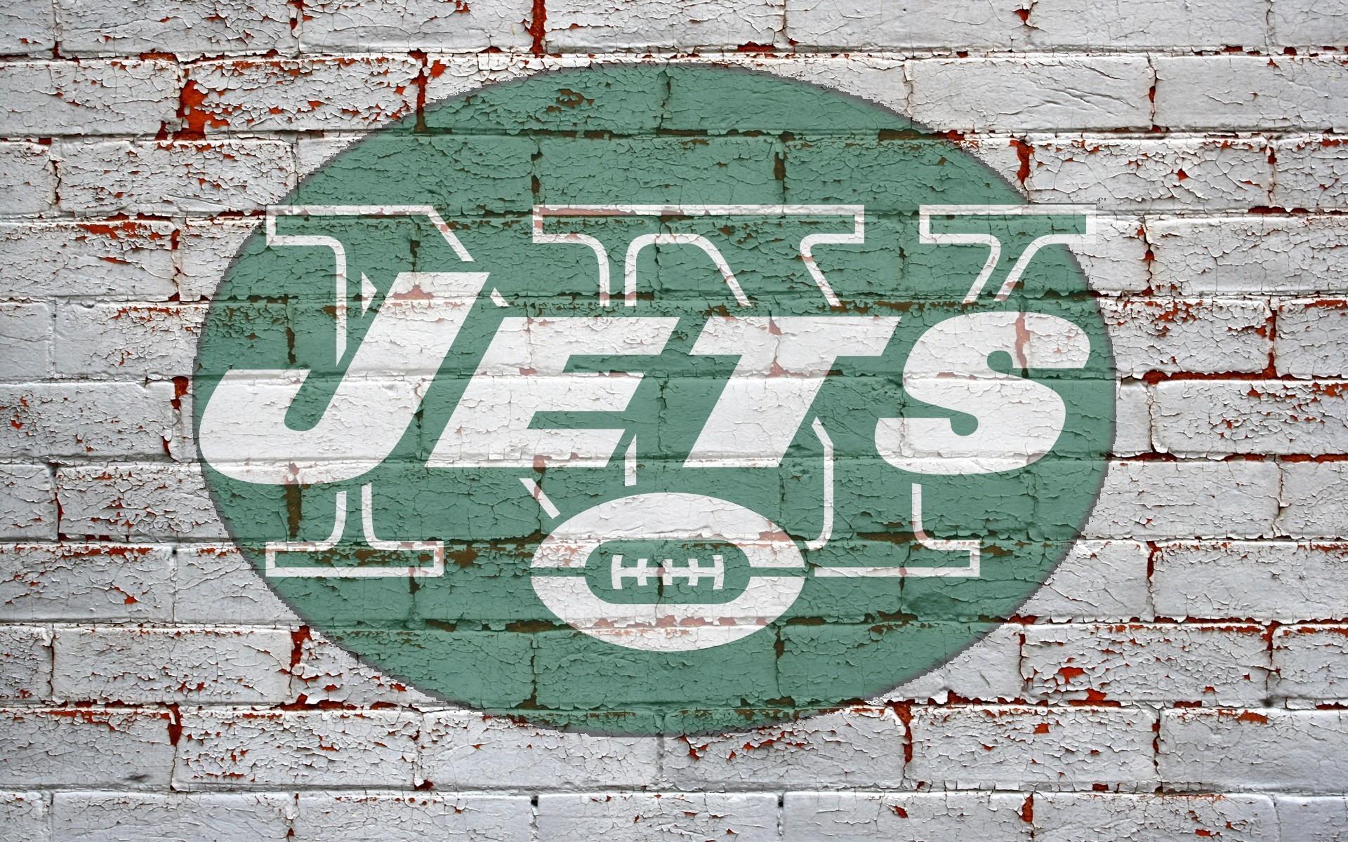 new york jets logo on grey brick wall. 1920×1080 1600×1200