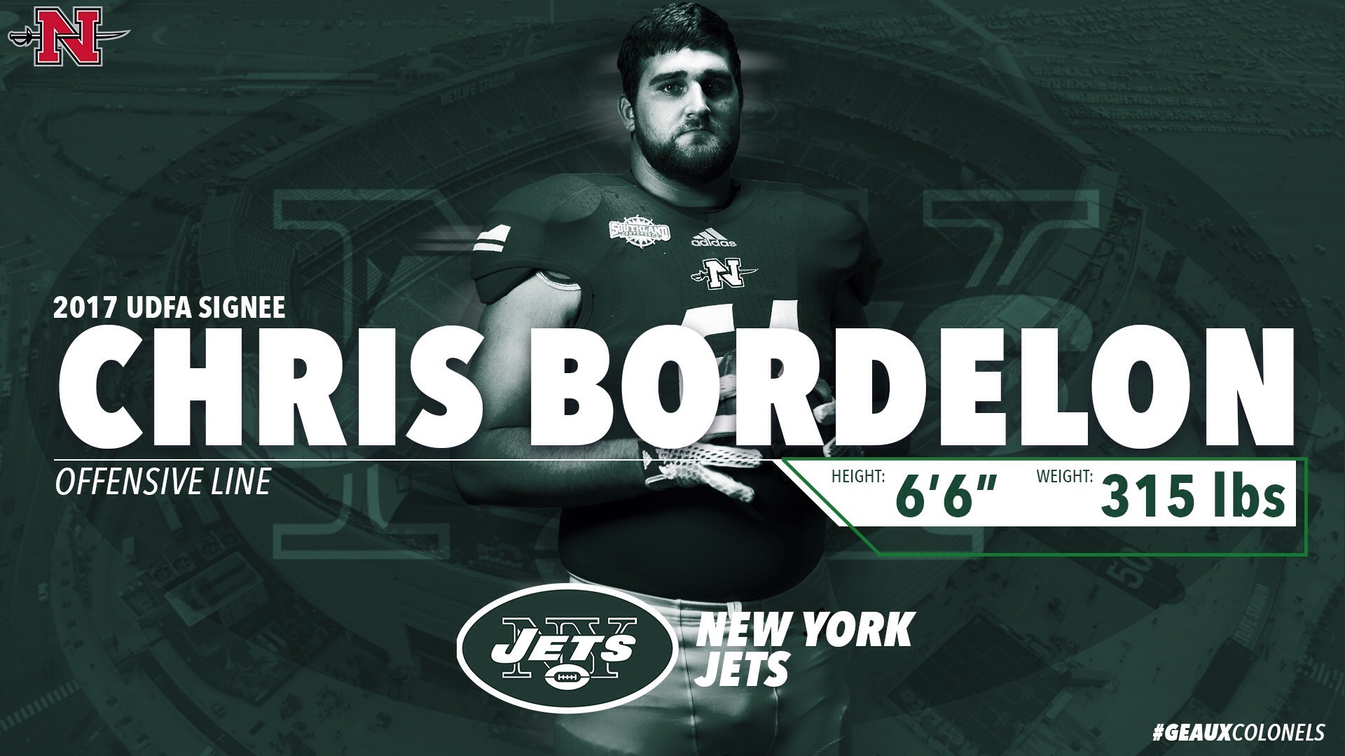 Bordelon signs with New York Jets