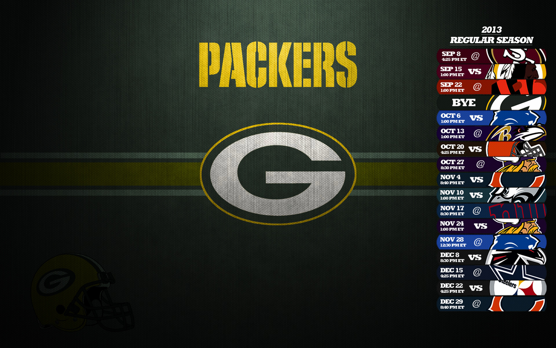 Green Bay Packers Schedule 2013 Wallpaper – Green Bay Packers .