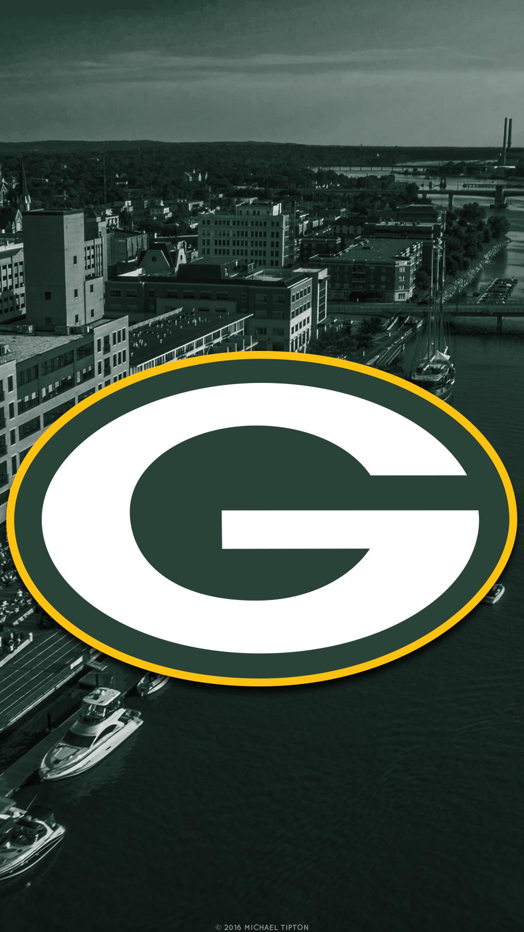 … Green Bay Packers city 2017 logo wallpaper free iphone 5, 6, 7, galaxy
