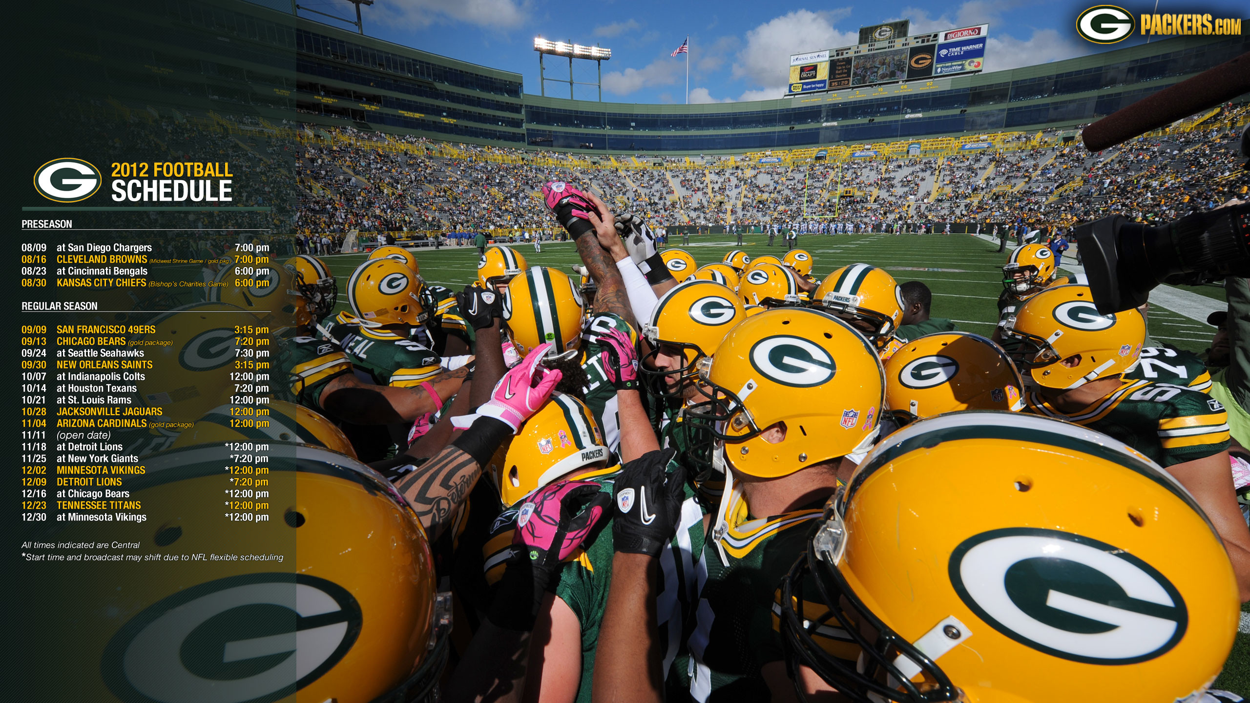 Packers.com | Wallpapers: 2012 Miscellaneous