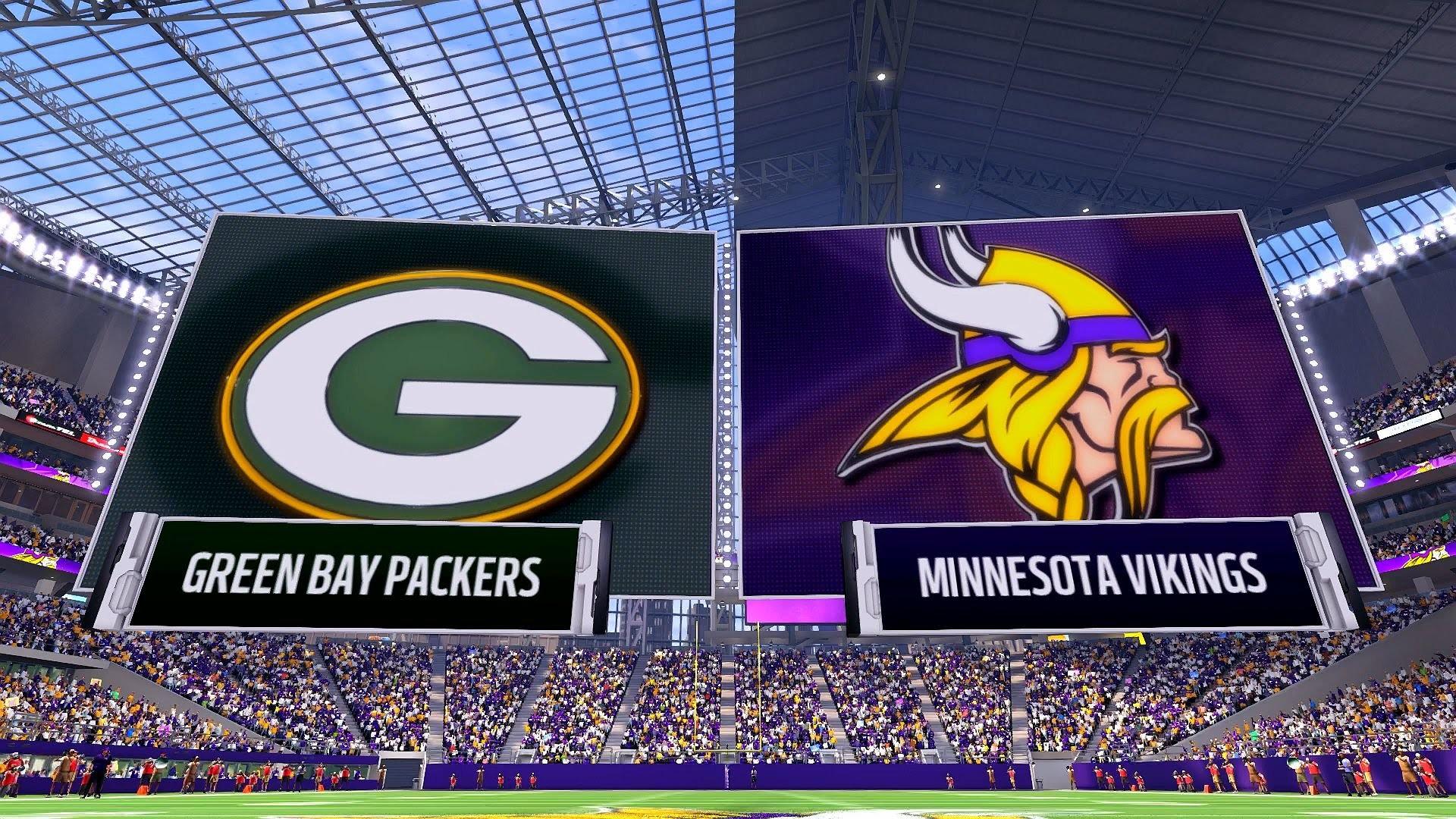 Madden NFL 17 – Green Bay Packers vs. Minnesota Vikings [1080p 60 FPS] –  YouTube