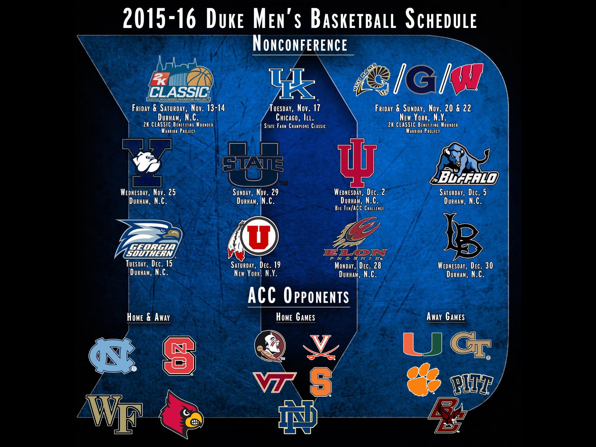 Best 25+ Duke basketball schedule 2016 ideas only on Pinterest | Duke mens  basketball schedule, Duke basketball schedule and Duke blue planet
