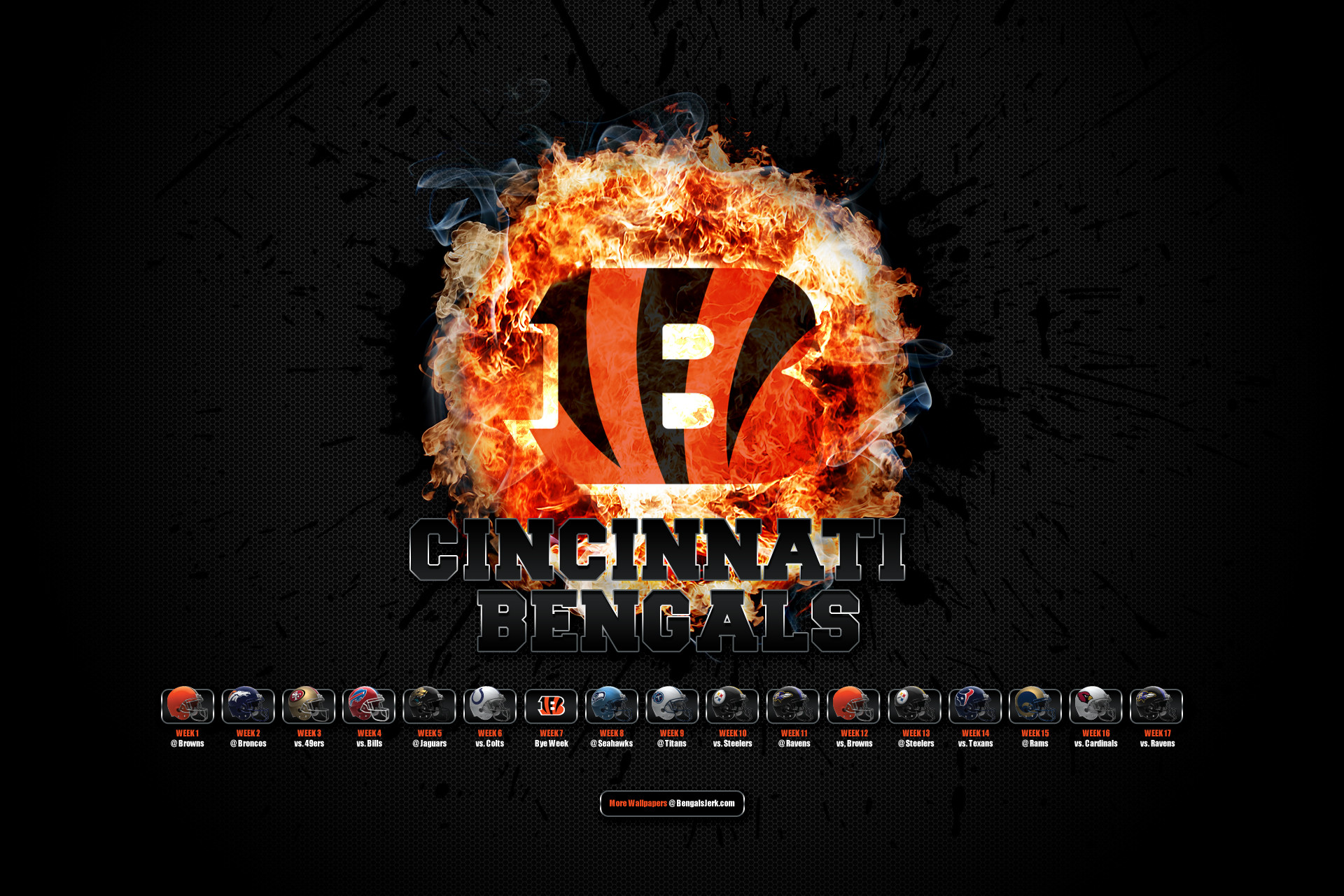 Cincinnati Bengals Logo Wallpapers   BestSportsWallpapers.com