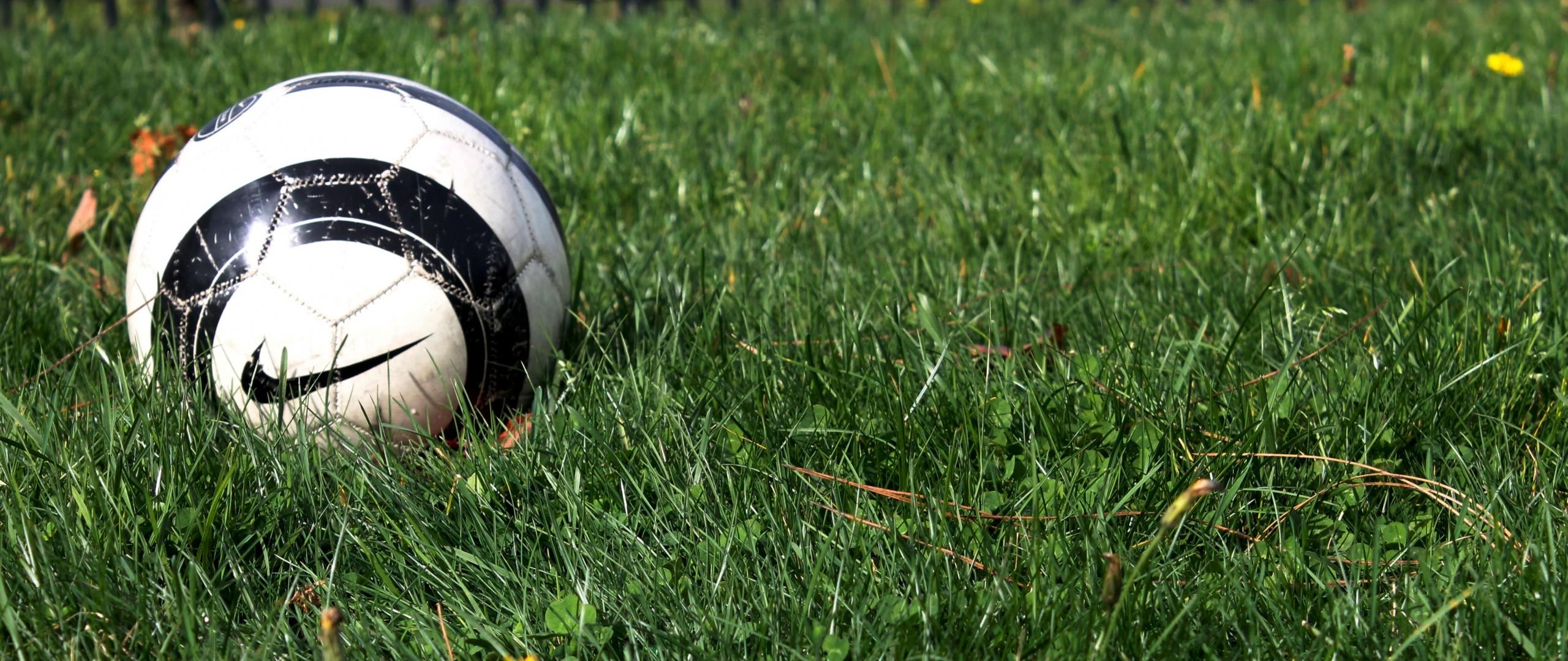 Wallpaper soccer ball, nike, grass