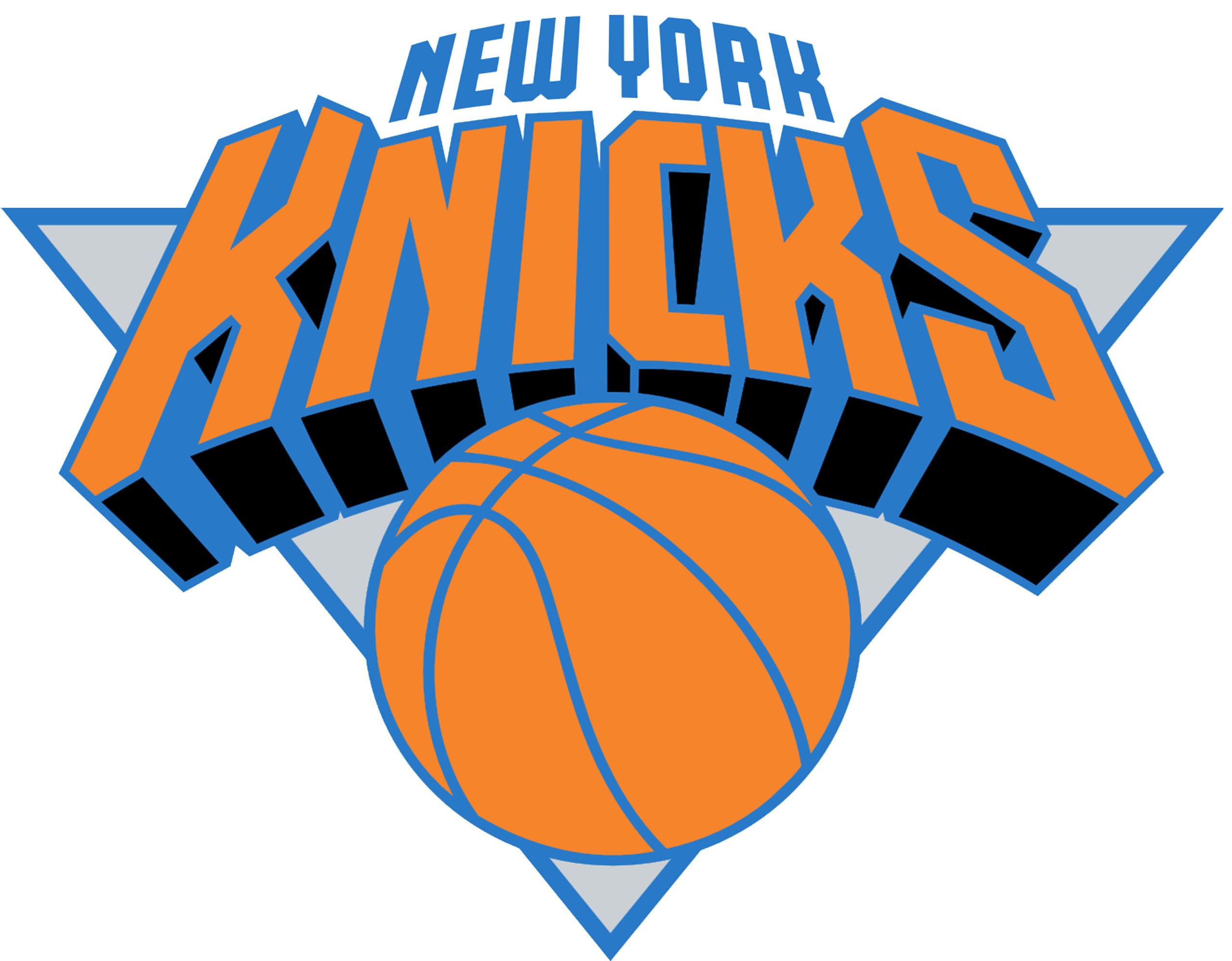 NEW YORK KNICKS Basketball Nba logo wallpaper over white