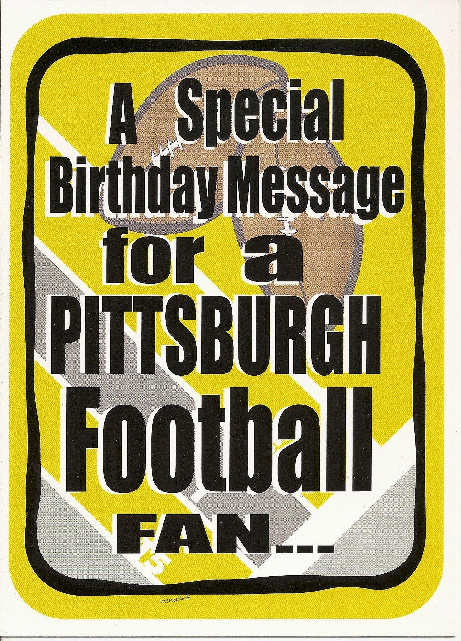 Pittsburgh Steelers Cleveland Sucks Happy Birthday Greeting Card