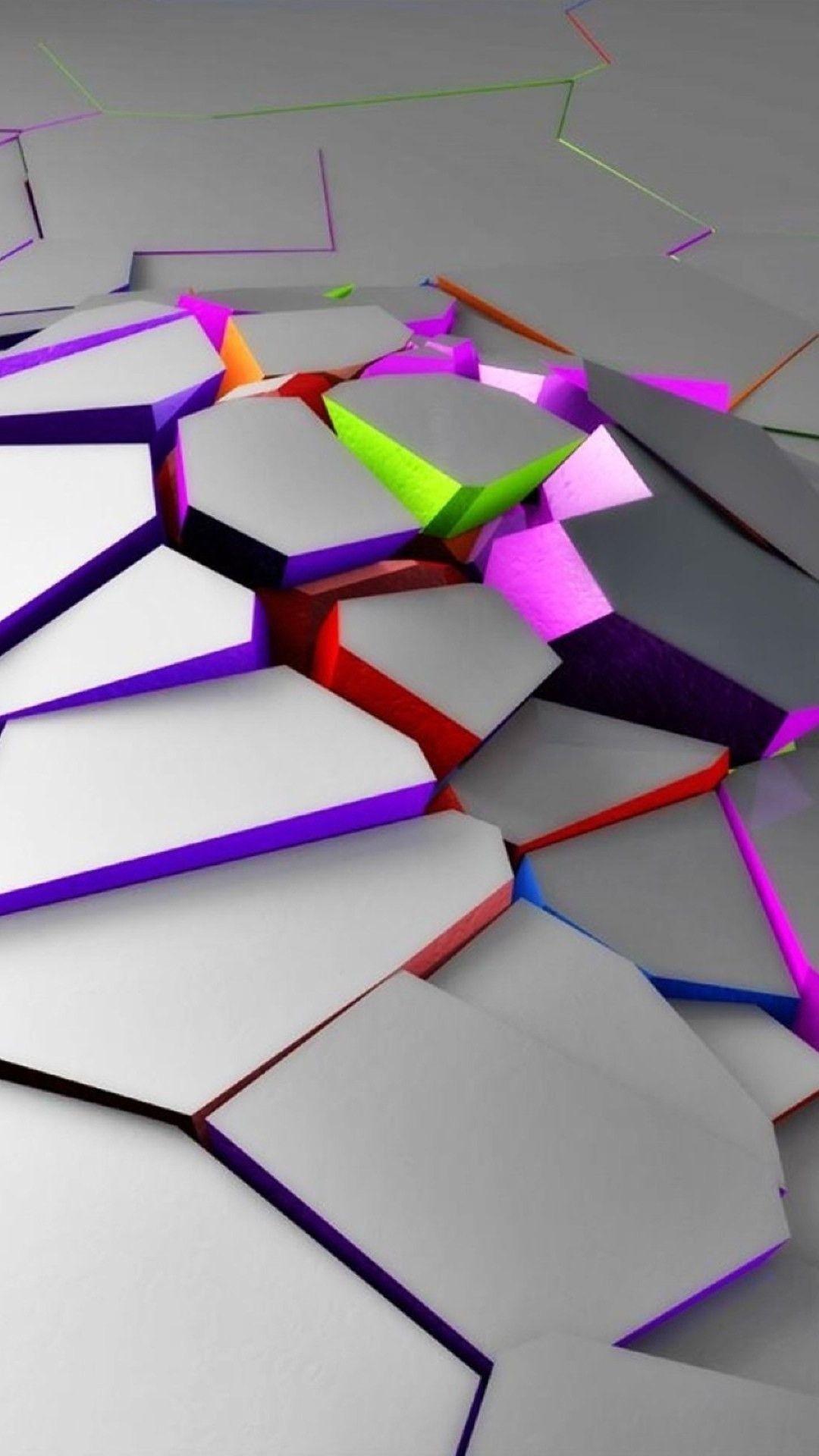 Neon cracks Mobile Wallpaper 4635