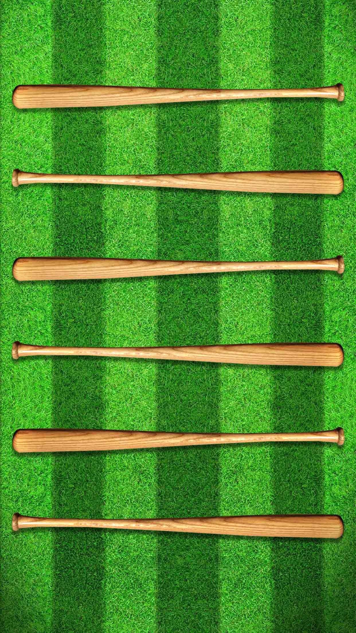 Shelves Baseball Field Green Wooden Bat Game