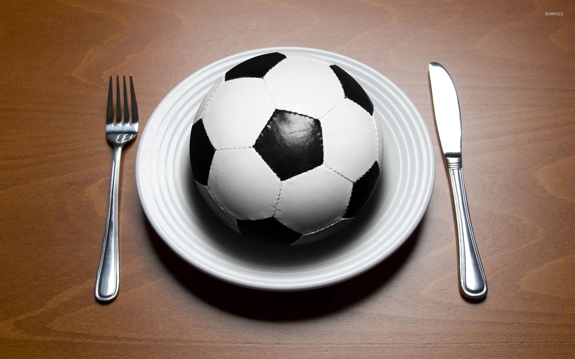 Soccer ball for lunch wallpaper jpg