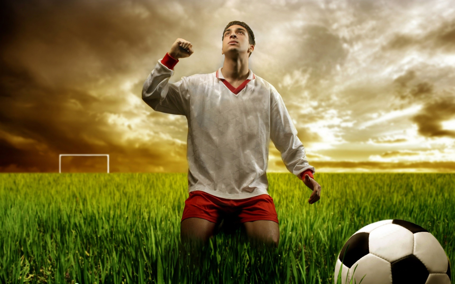 Football player wallpapers and stock photos