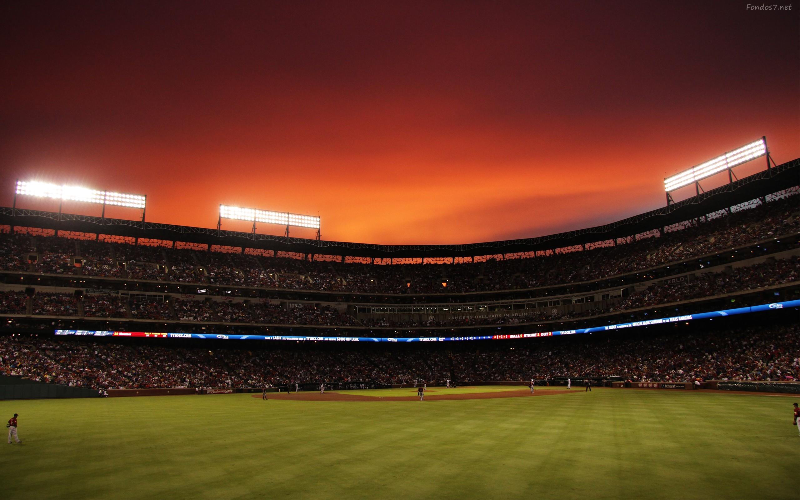 Descargar Fondos de pantalla un estadio de beisbol 3d hd widescreen .