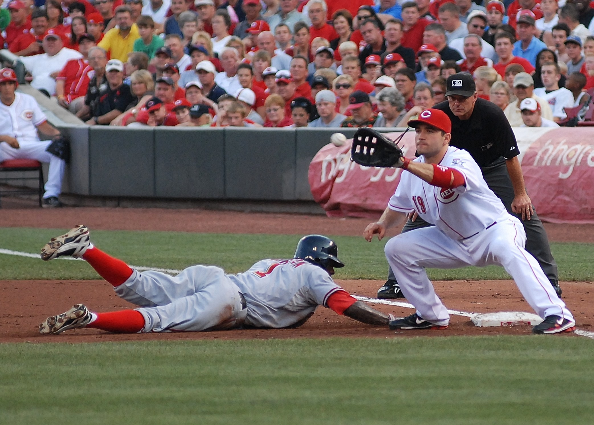 Joey Votto of the Cincinnati Reds by Sports Photographer Vincent Rush