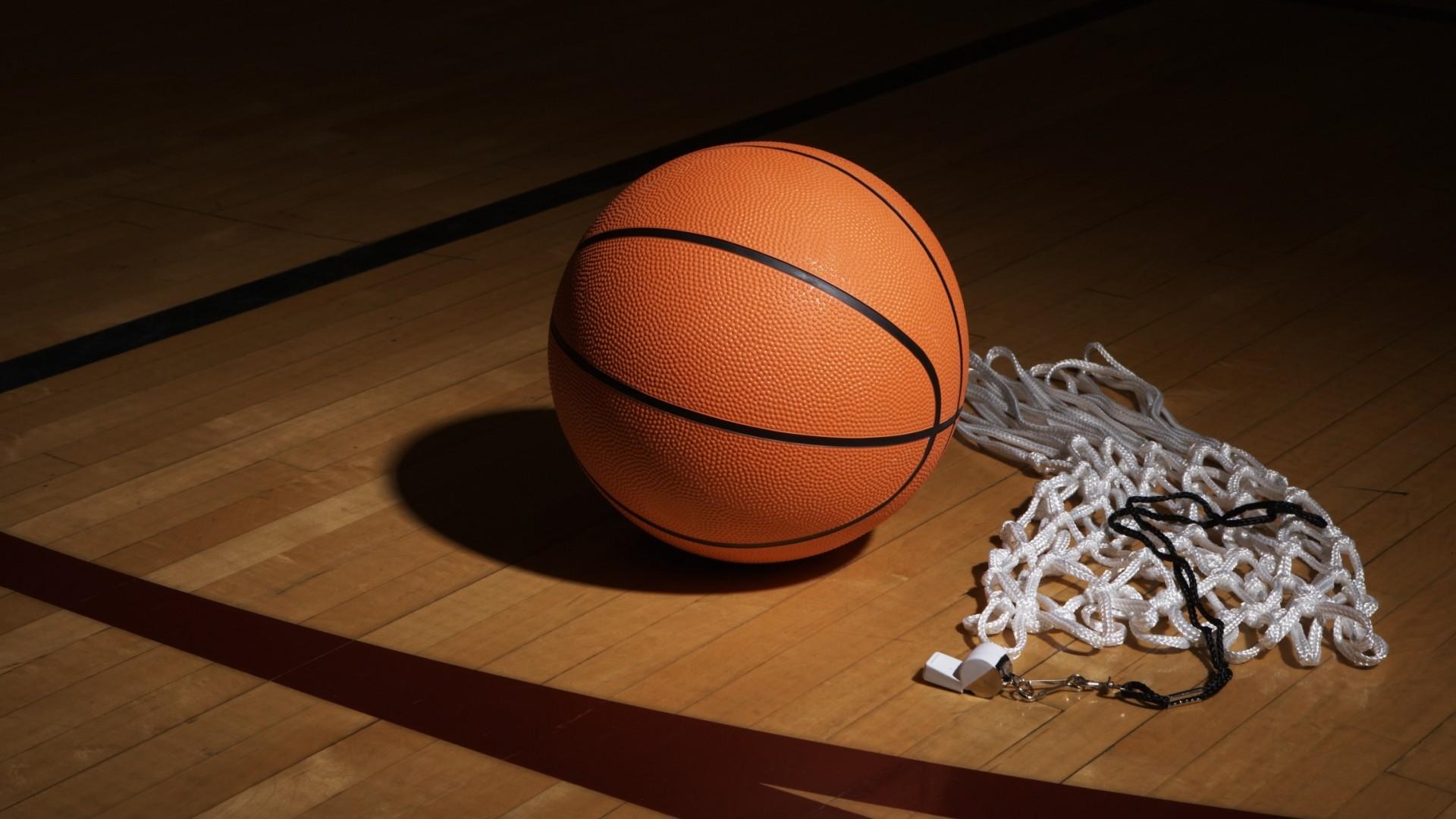 Preview wallpaper basketball, whistle, mesh, sports 1920×1080
