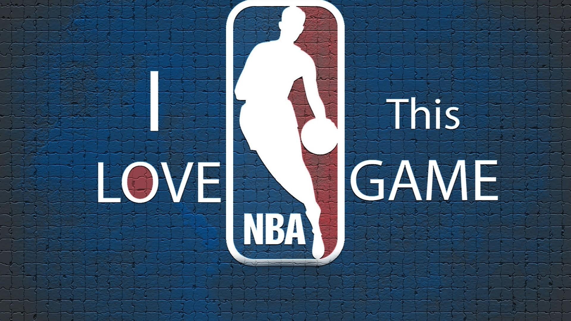 Preview wallpaper blue, nba, background, basketball, logo 1920×1080