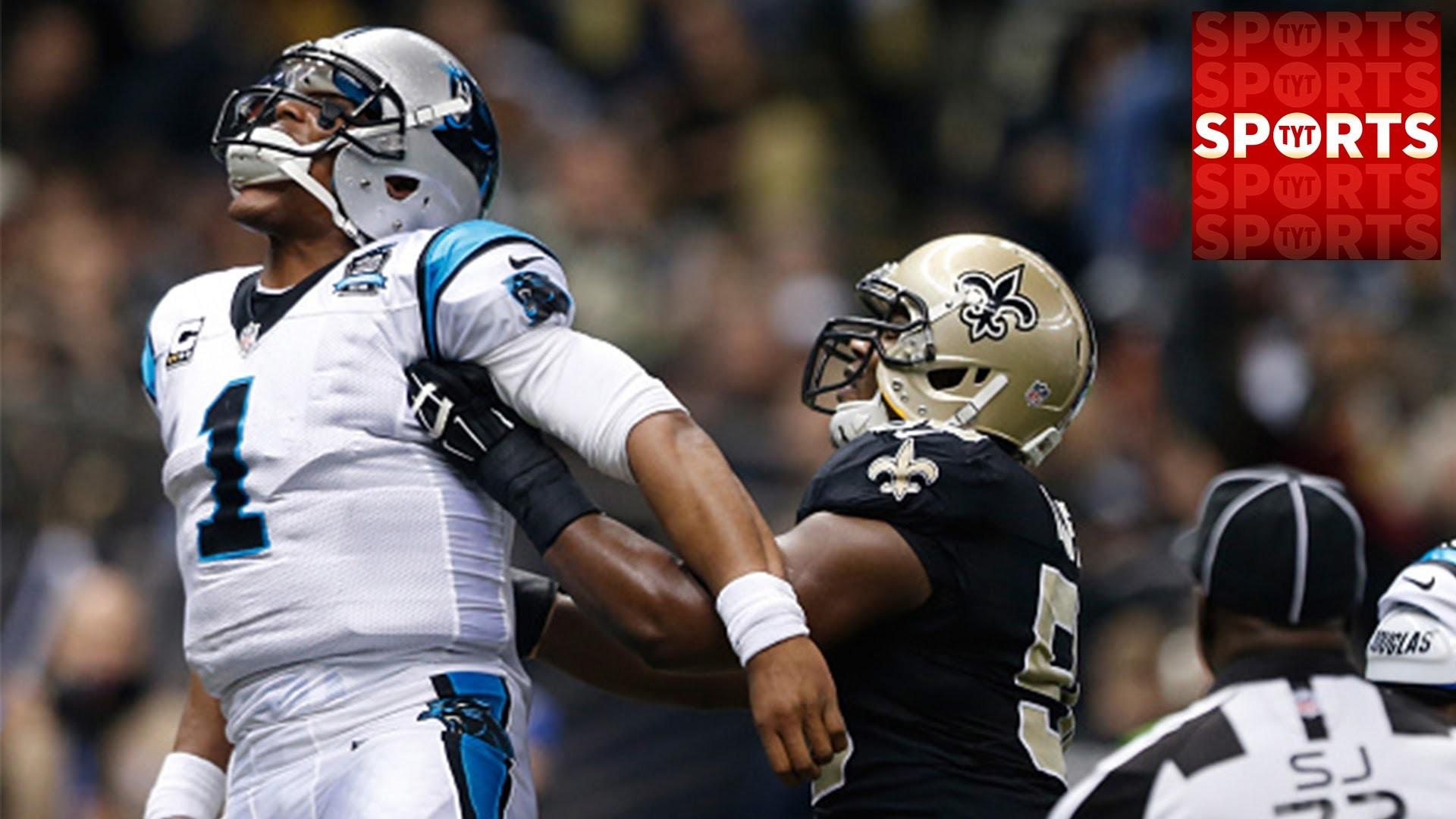 Cam Newton vs. Saints BRAWL [Carolina 41 Saints 10]