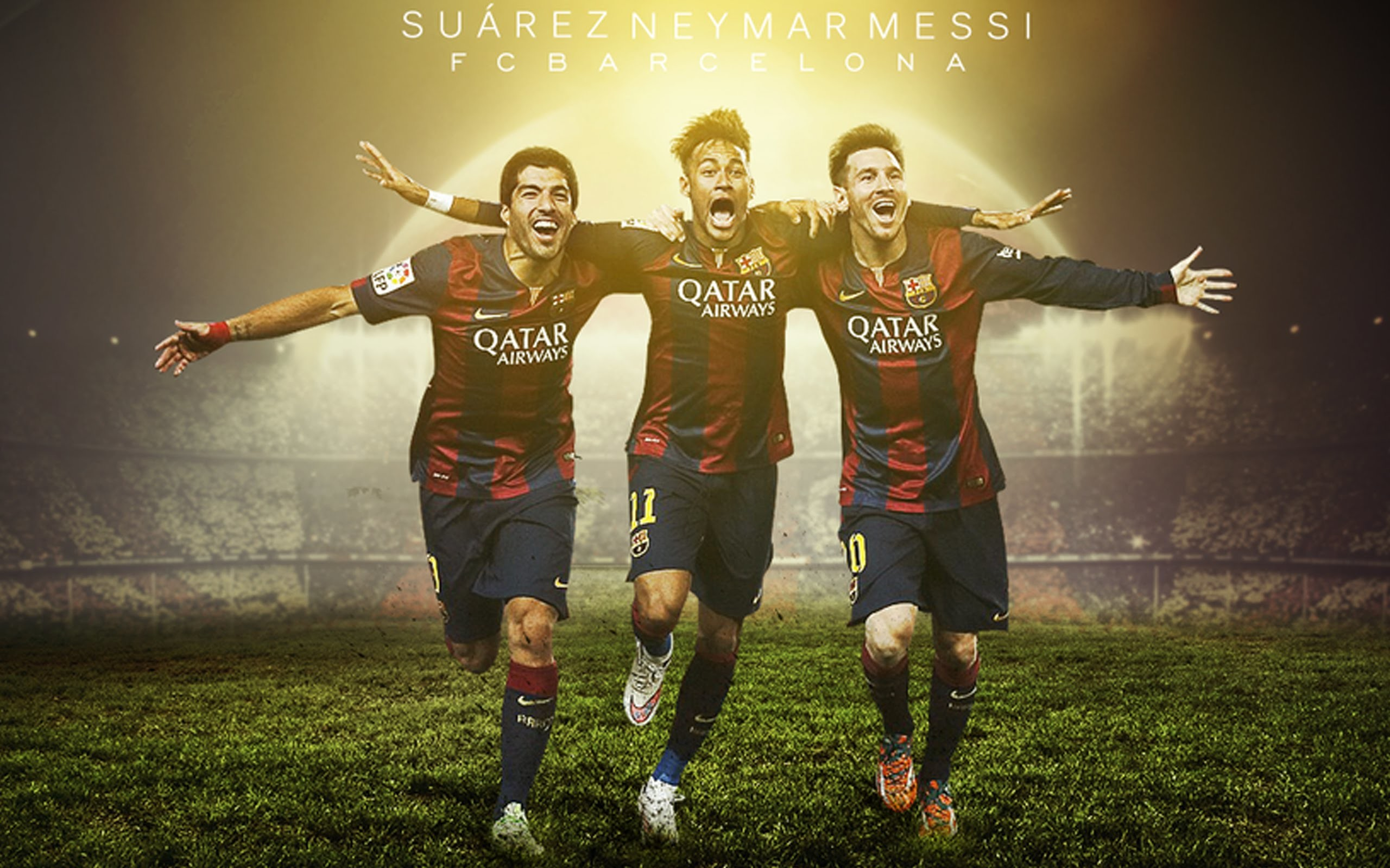 Suarez Neymar Messi Wallpaper. Suarez Neymar Messi Wallpaper – Team FC  Barcelona