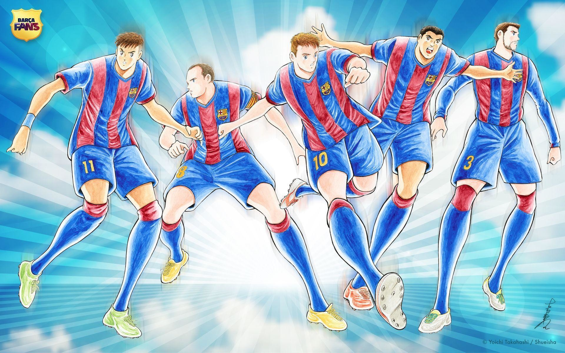 FC Barcelona Wallpaper By 'Captain Tsubasa' Artist Yoichi .