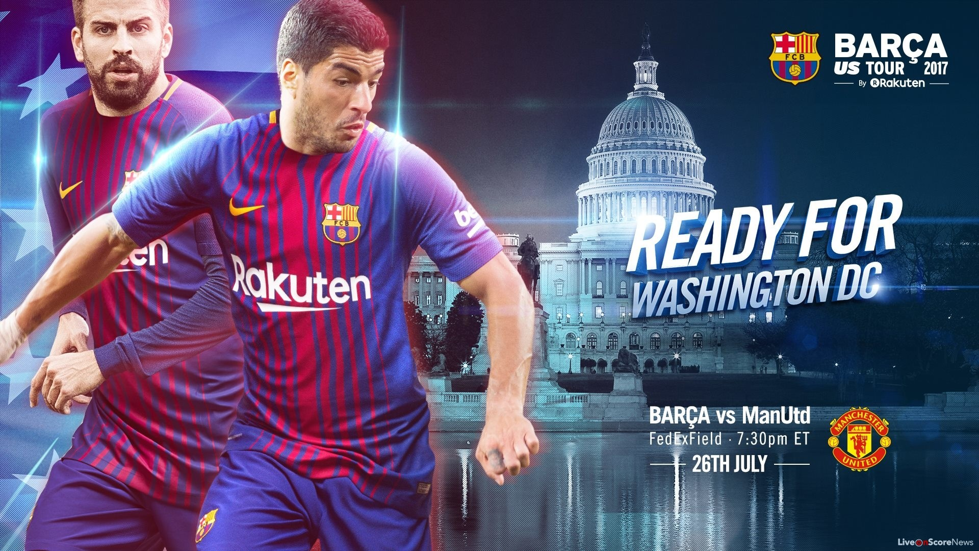 When and where to watch FC Barcelona v Manchester United International  Champions Cup 2017 Livestream