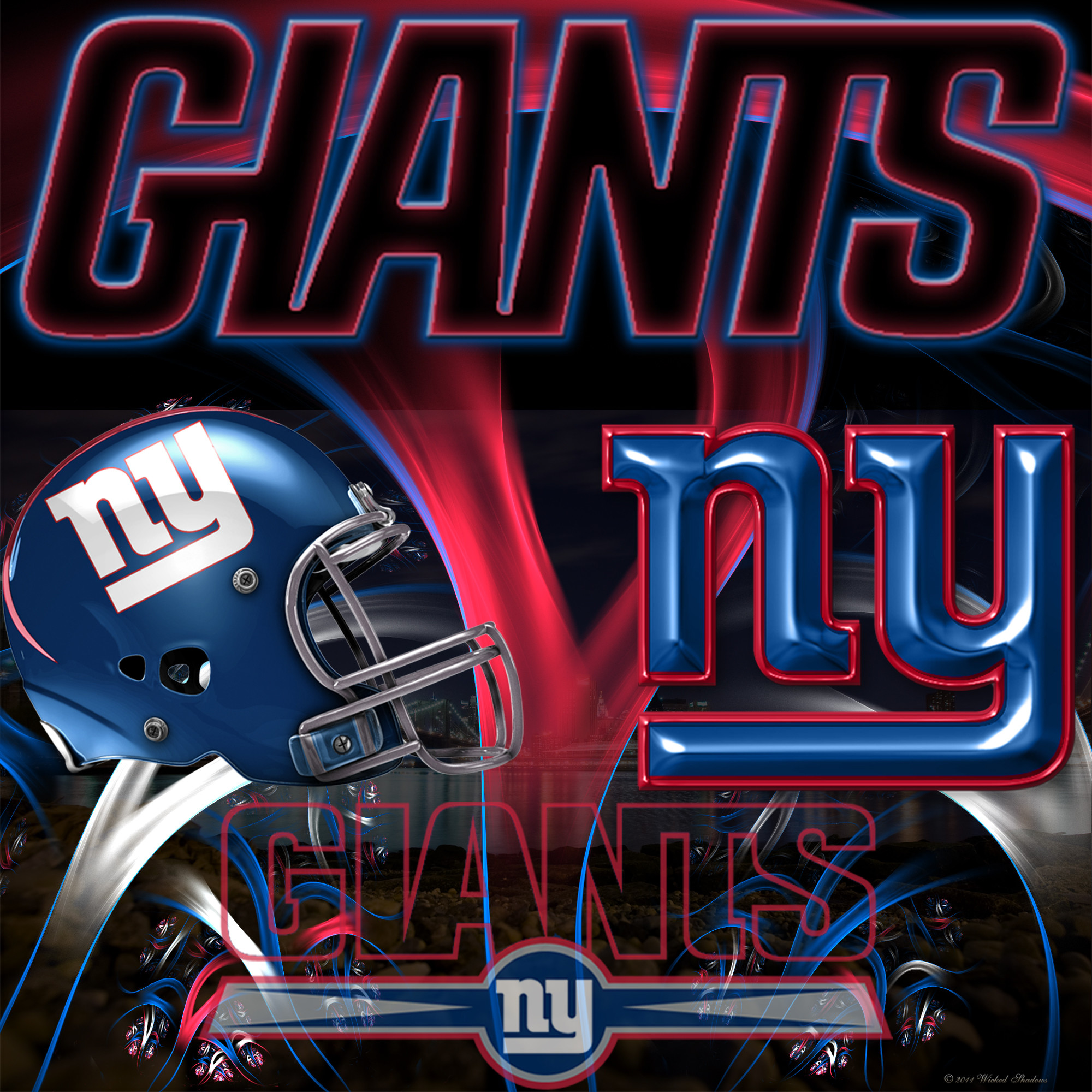 Wallpapers By Wicked Shadows: New York Giants Wicked Wallpaper
