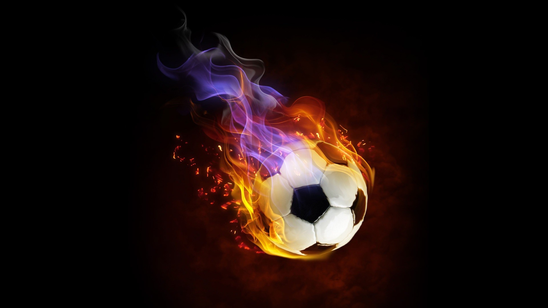 Cool Flaming Soccer Ball Wallpaper Soccer/football