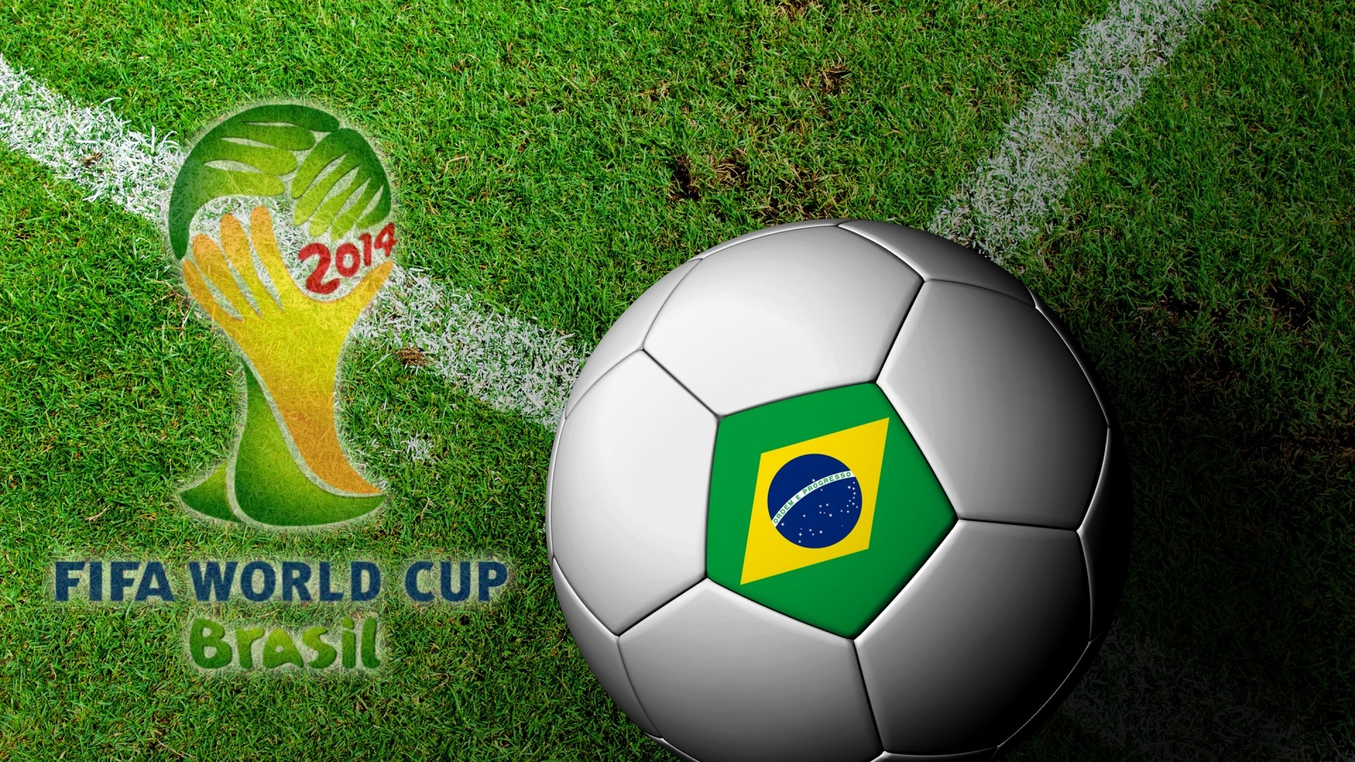 Wallpaper brasil, fifa, world cup, 2014, football, ball
