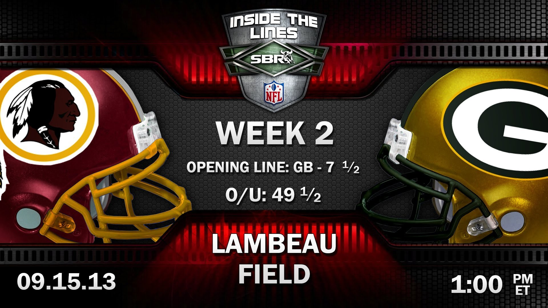 Washington Redskins vs Green Bay Packers NFL Week 2 Preview   2013 NFL  Picks w/ Tony George, Loshak