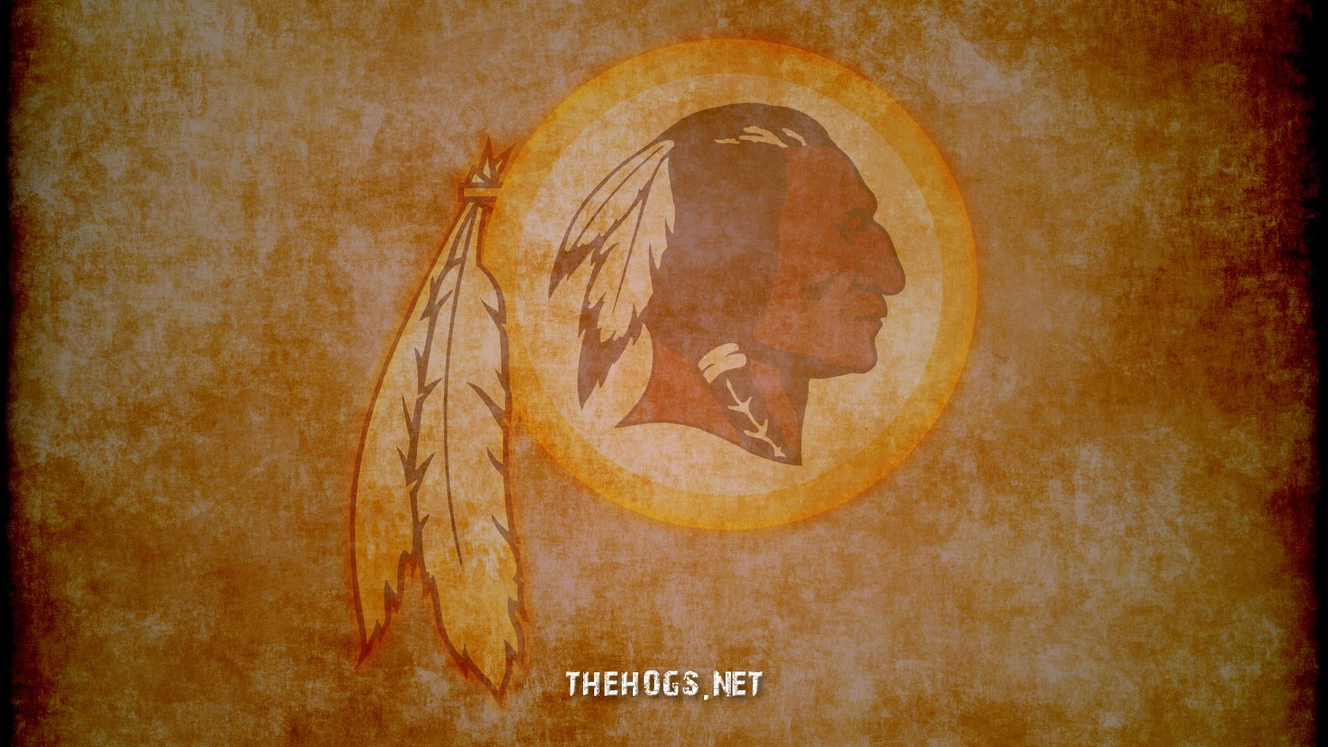 Redskins logo on old paper