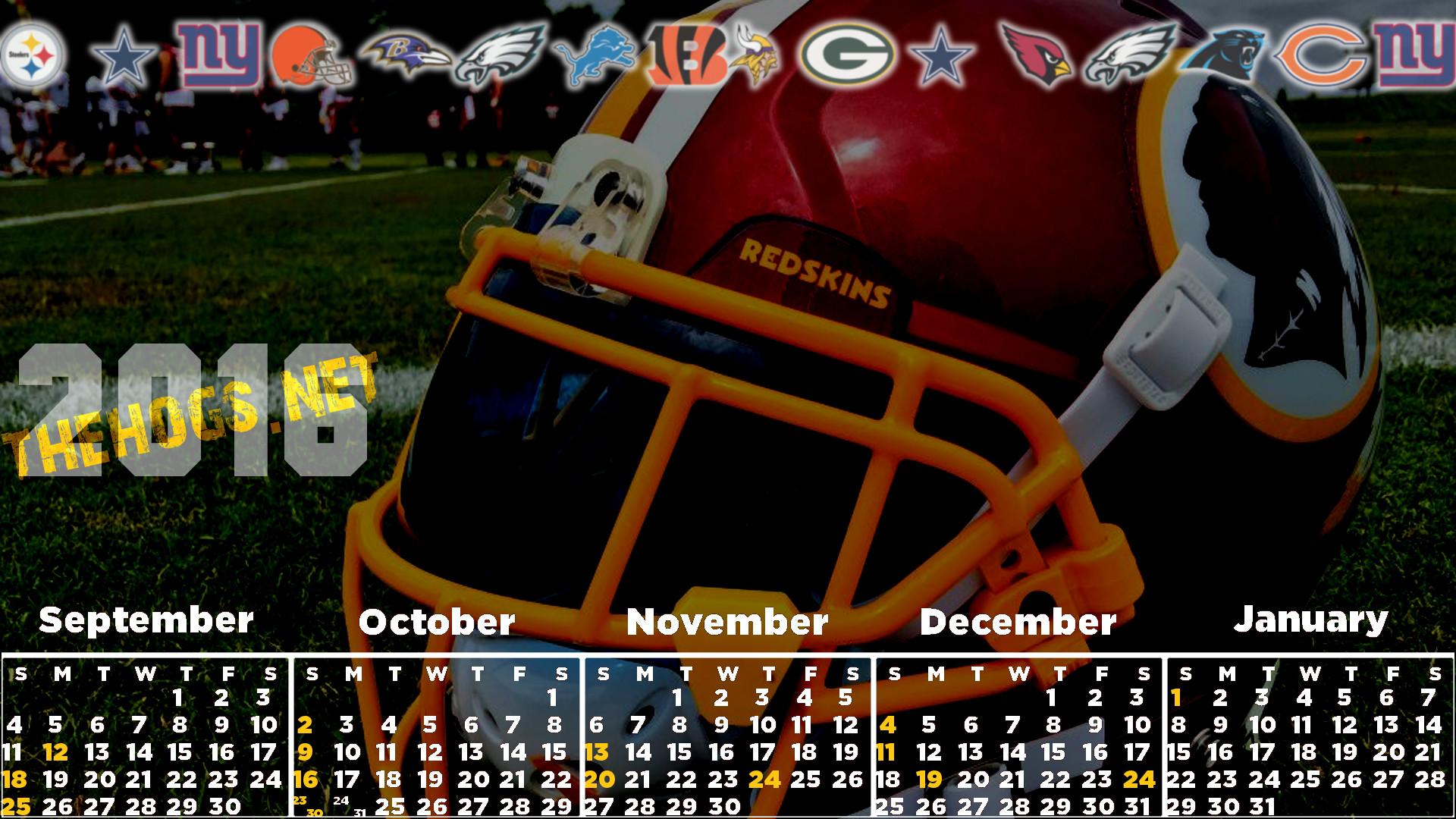 2016 Redskins Calendar
