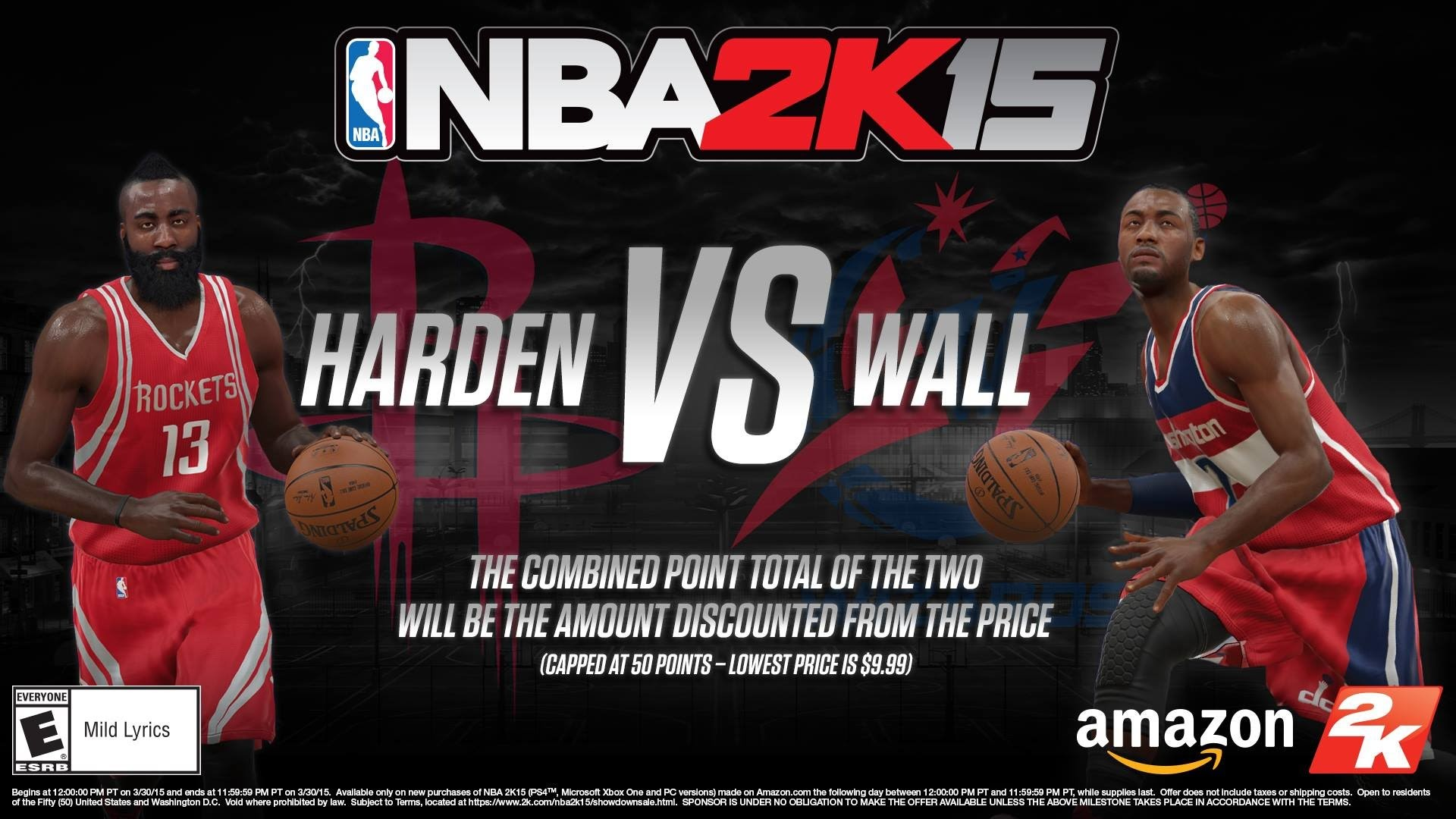 NBA 2k15 Special Promo Sale: James Harden vs John Wall | Sun. March 29,  2015 – YouTube