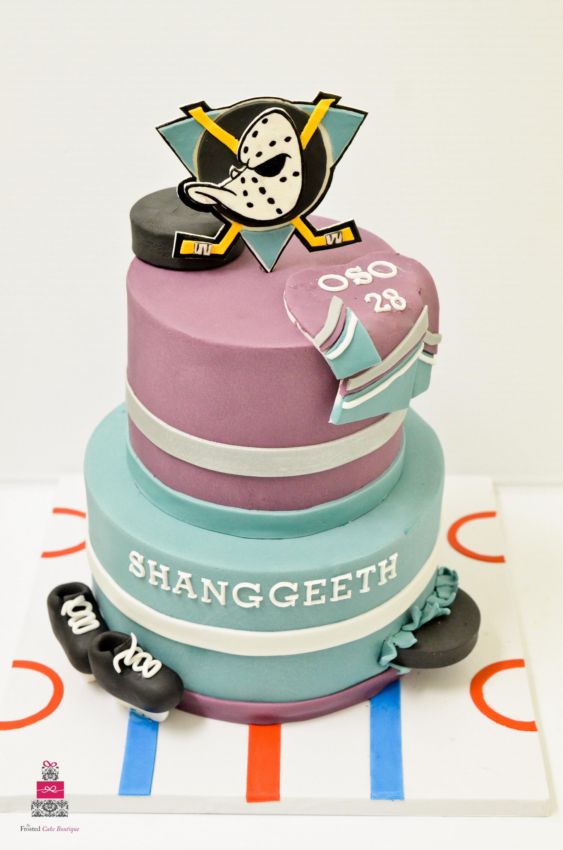 Anaheim Ducks Birthday Cake