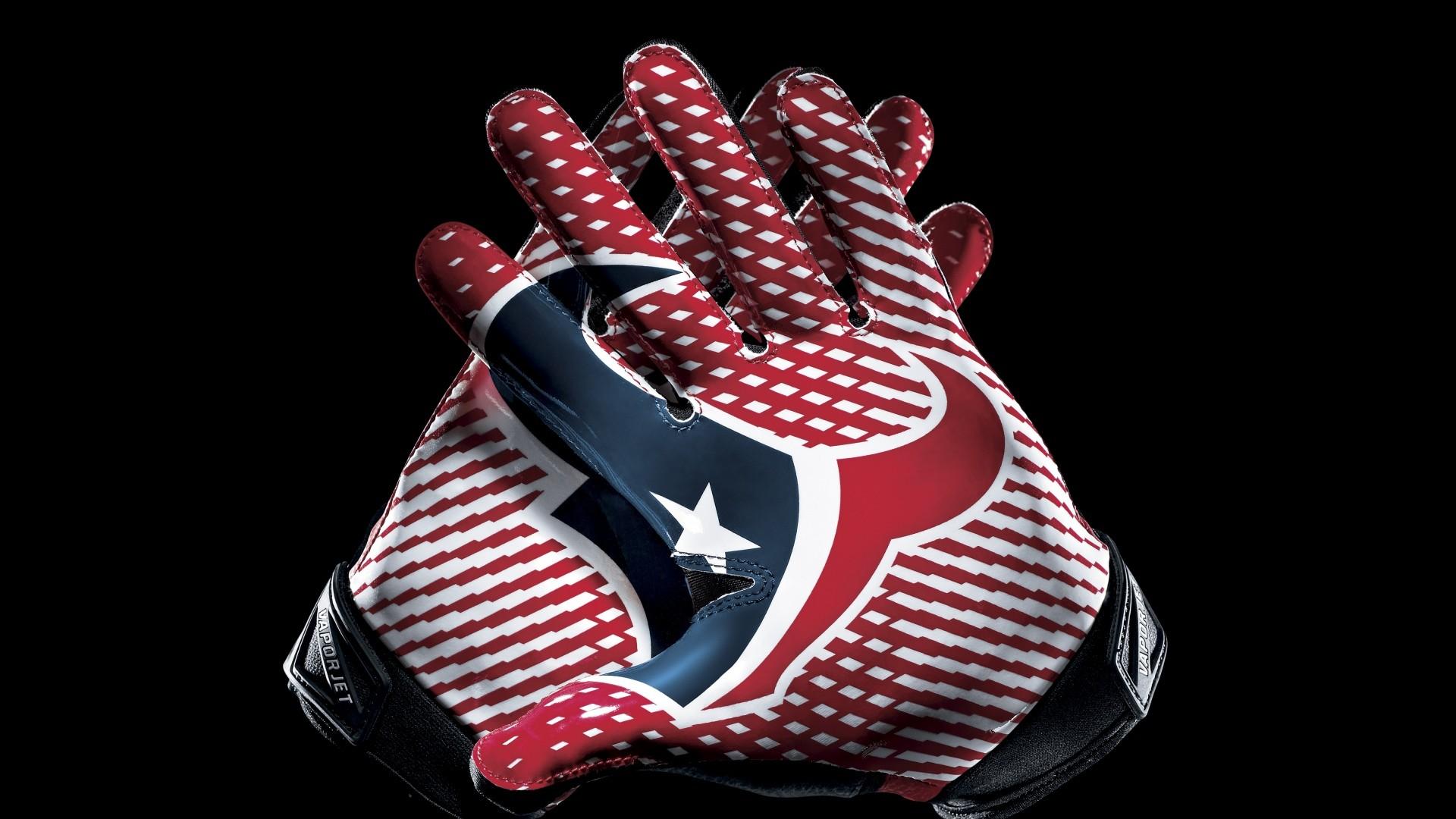 Preview wallpaper houston texans, football, logo, hands 1920×1080