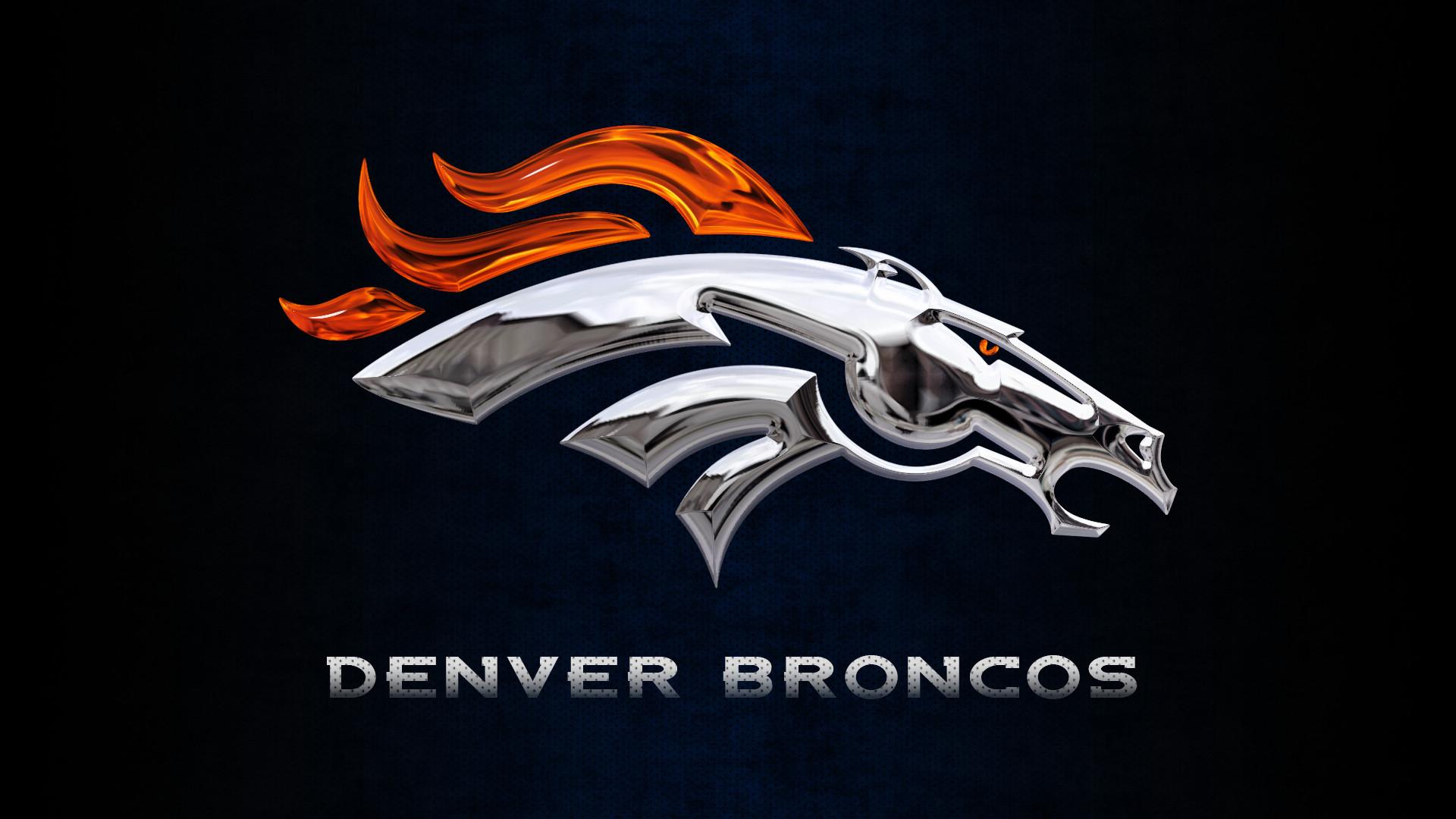 Denver Broncos Chrome Logo Wallpaper