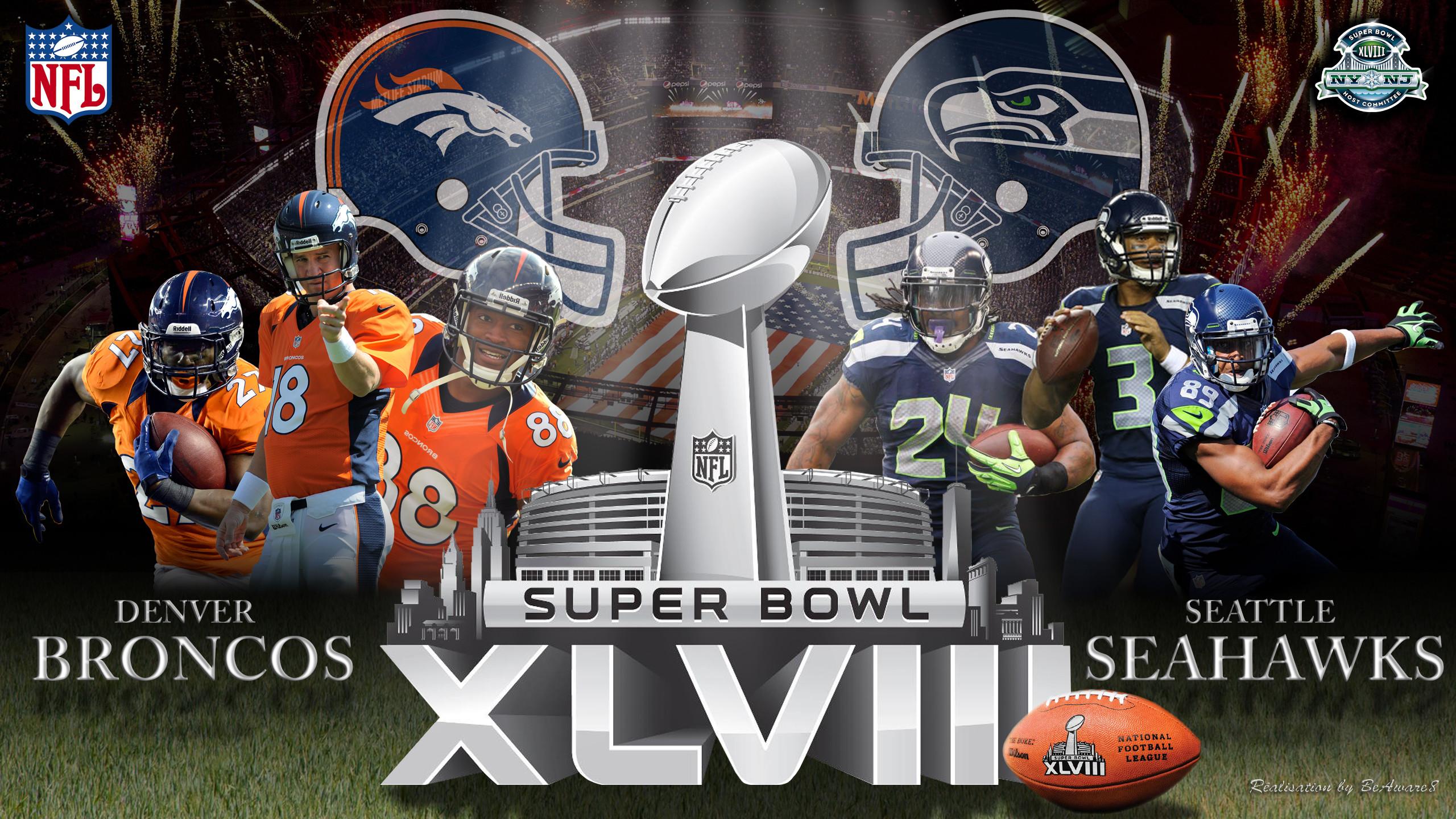 Super Bowl XLVIII Denver Broncos Vs Seattle Seahaw by BeAware8 on .