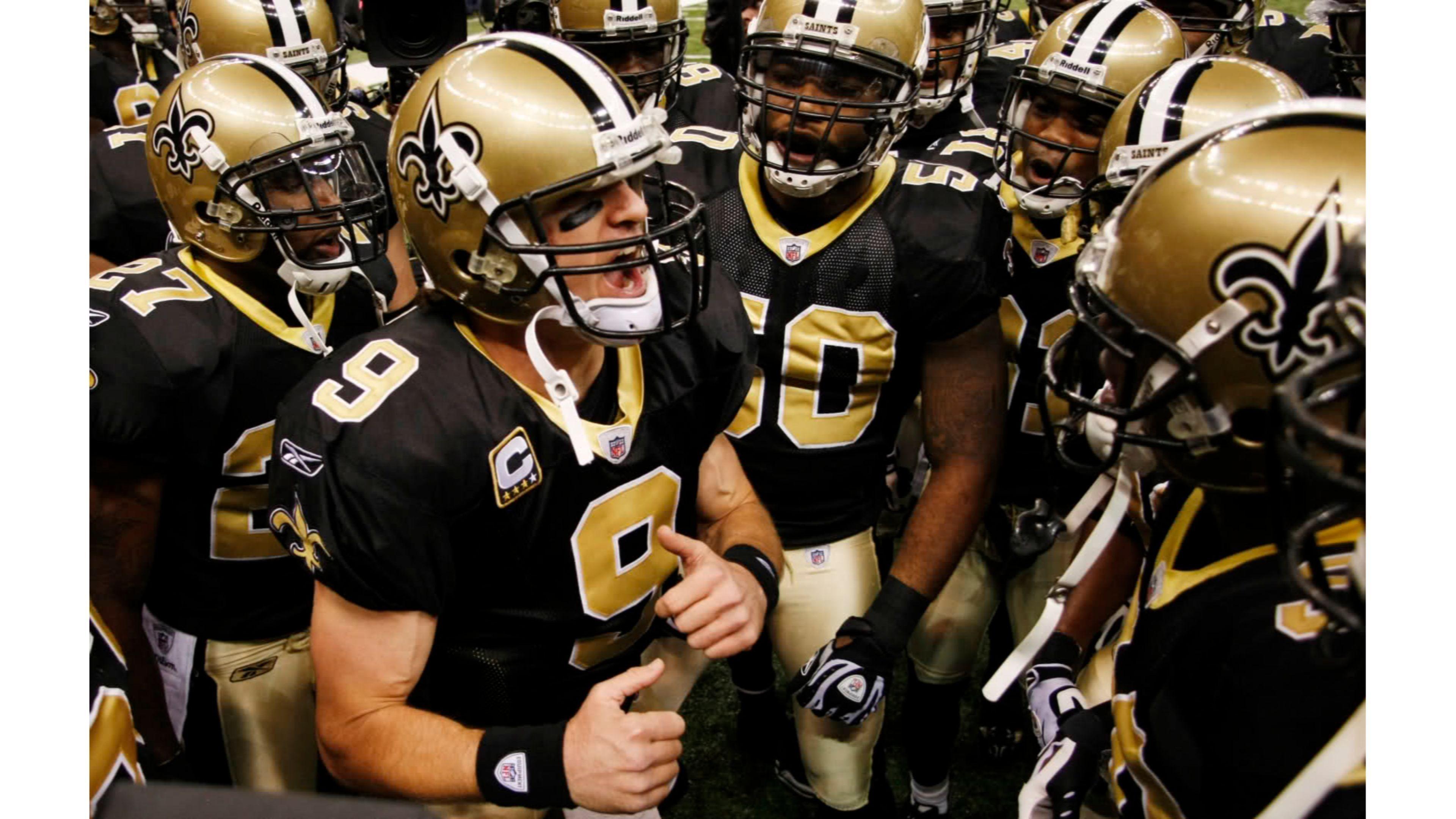 Saints Team 4K Drew Brees Wallpaper