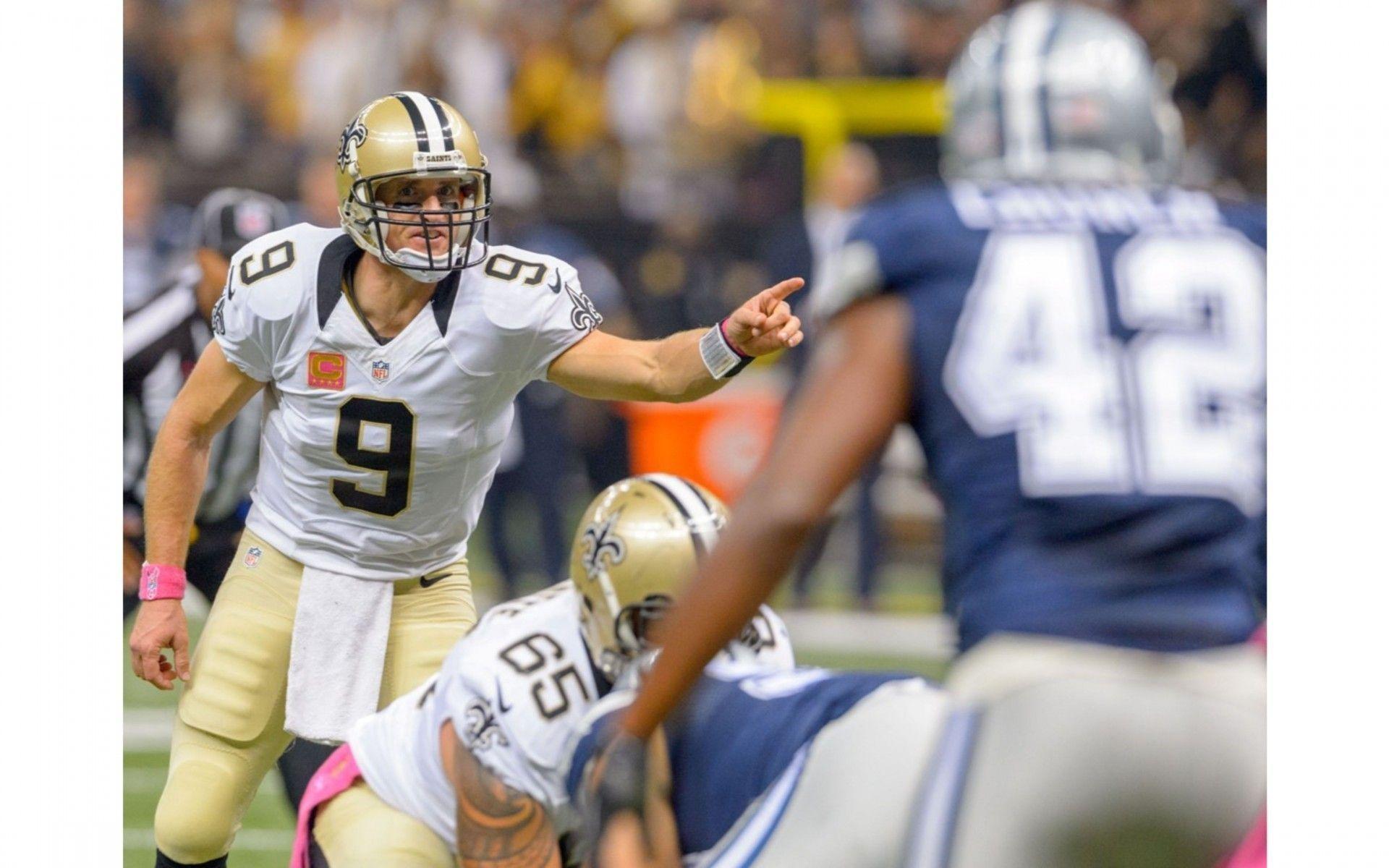 New Orleans Saints 4K Drew Brees Wallpaper | Free 4K Wallpaper