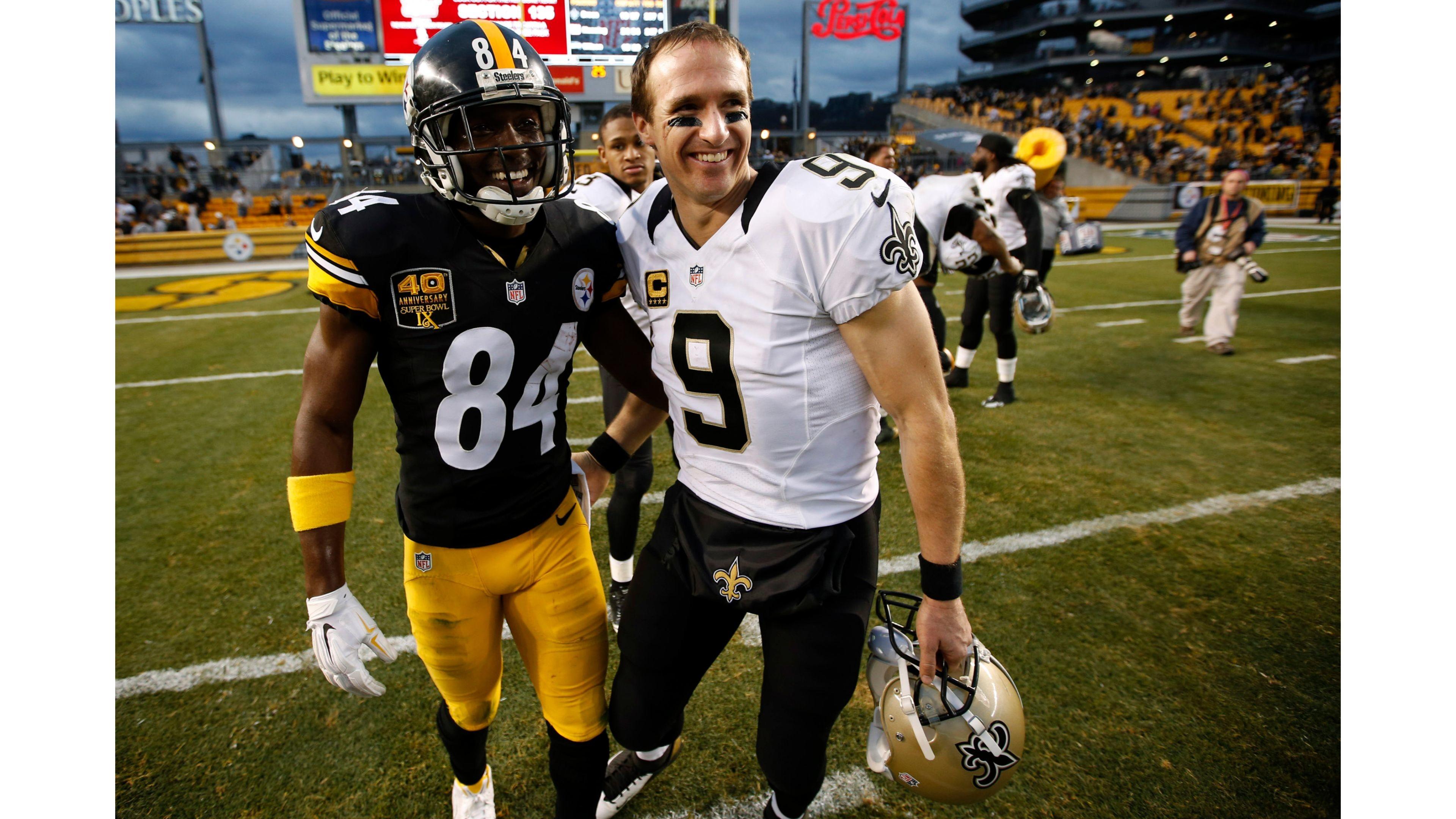 Steelers vs Drew Brees 4K Wallpapers